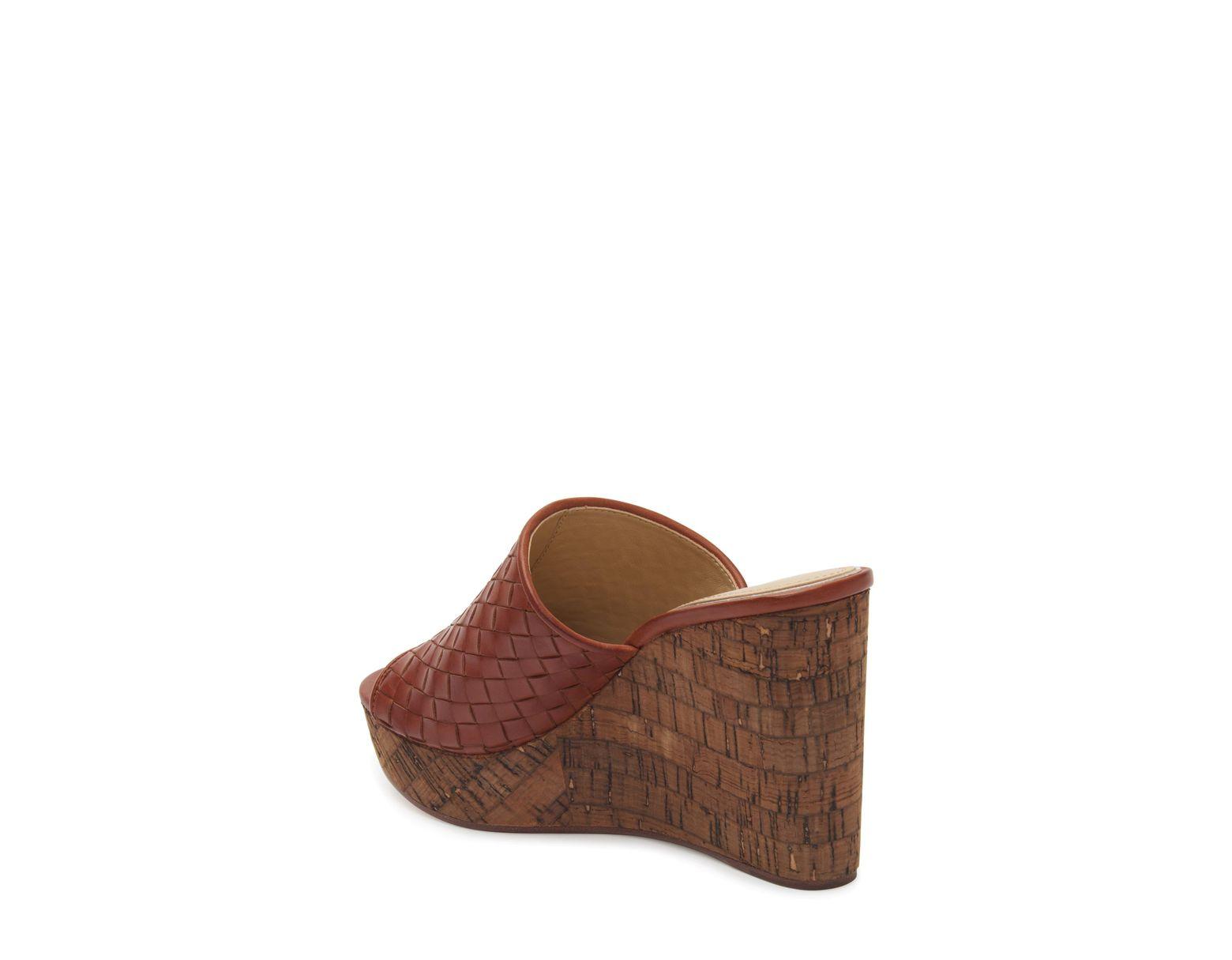 84585de30 Etienne Aigner Devin Wedge Slide Sandal in Brown - Lyst
