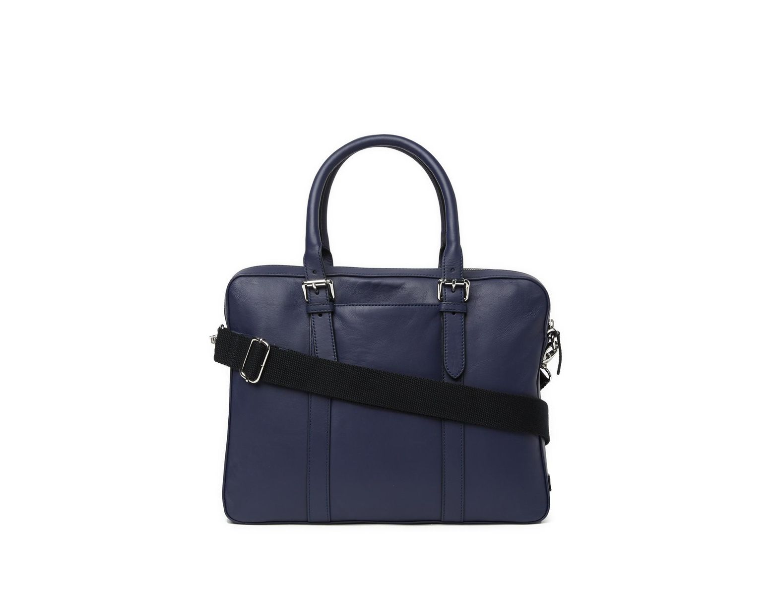 d221197be0 Cole Haan Smooth Leather Attache Case in Blue for Men - Lyst