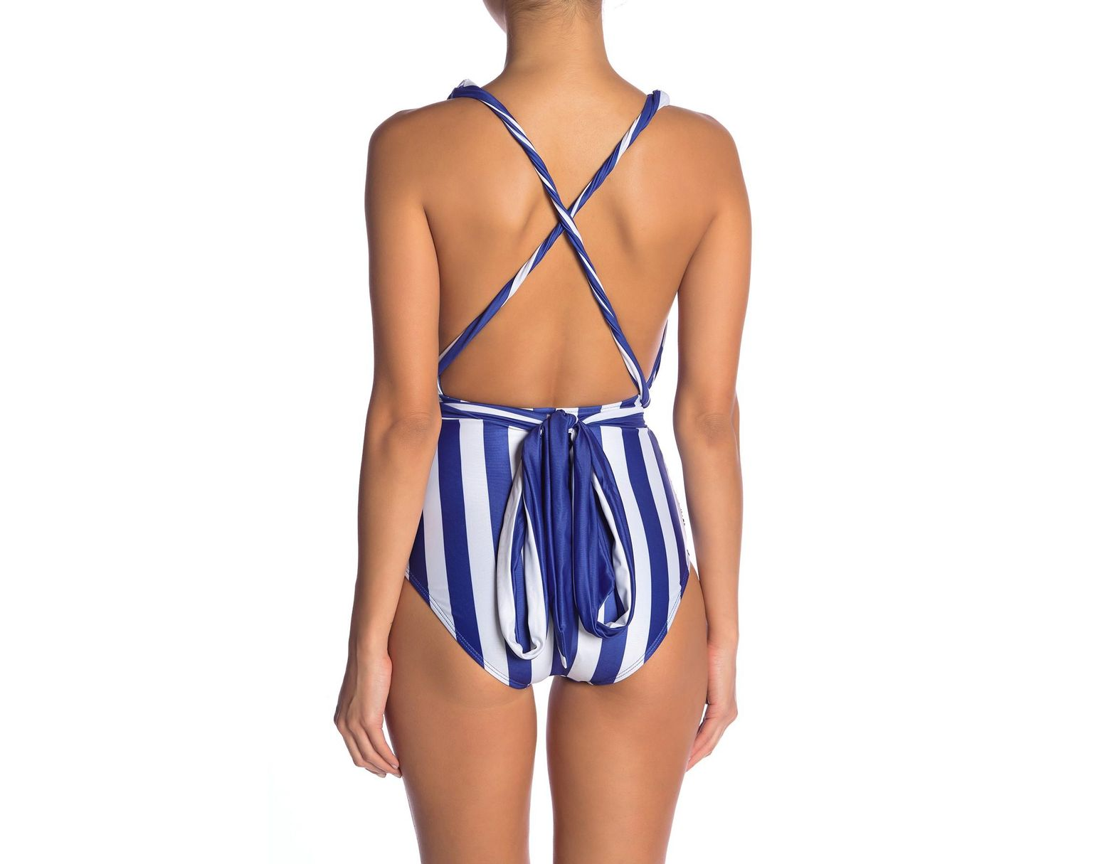 257f40c5a9e Nicole Miller Convertible One-piece Swimsuit in Blue - Lyst