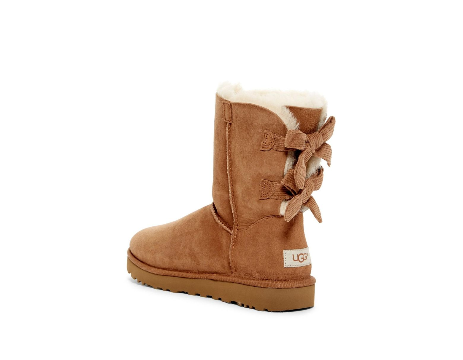 dc47db71767 Women's Brown Bailey Twinface Genuine Shearling & Pure(tm) Bow Corduroy Boot