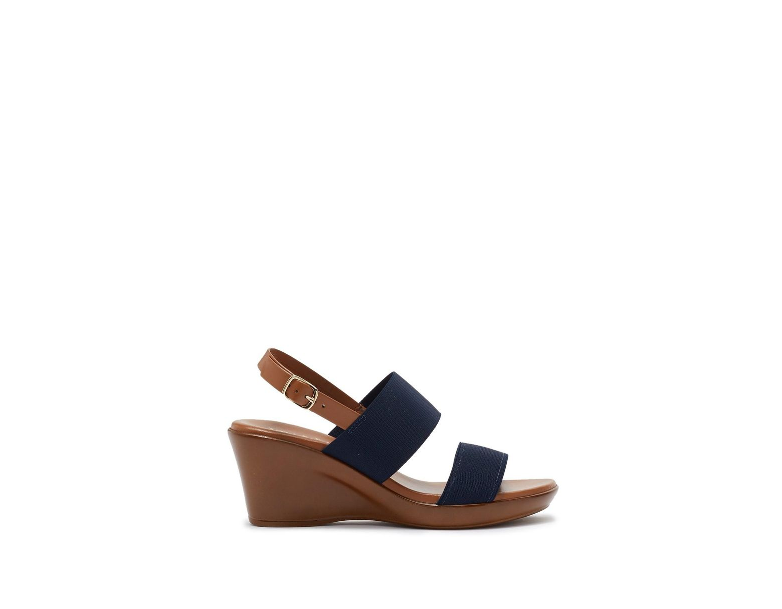 7d9fe4306 Italian Shoemakers Rylee Wedge Sandal in Blue - Lyst