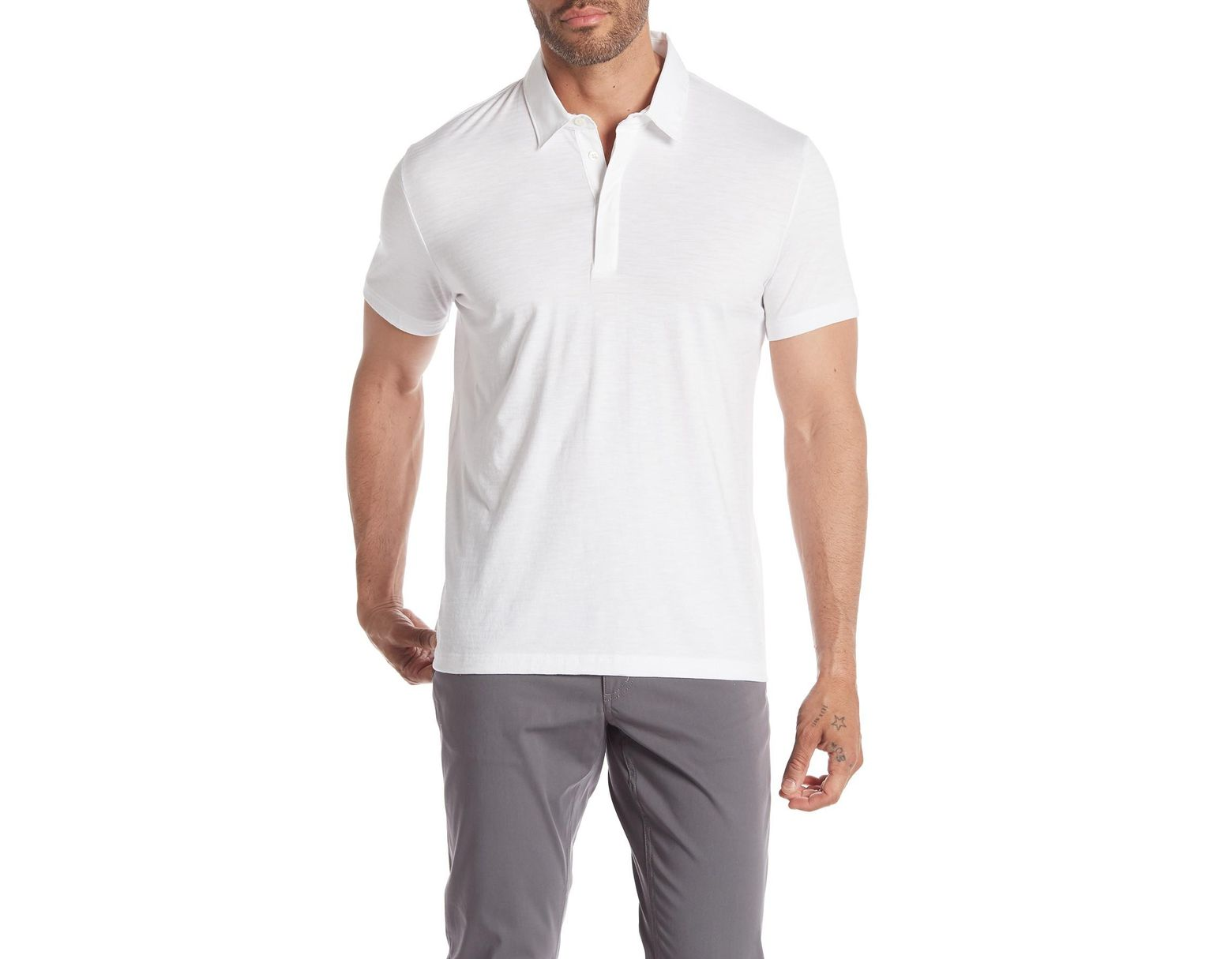 899ba866b08 Lyst - Theory Claude Flame Jersey Polo in White for Men
