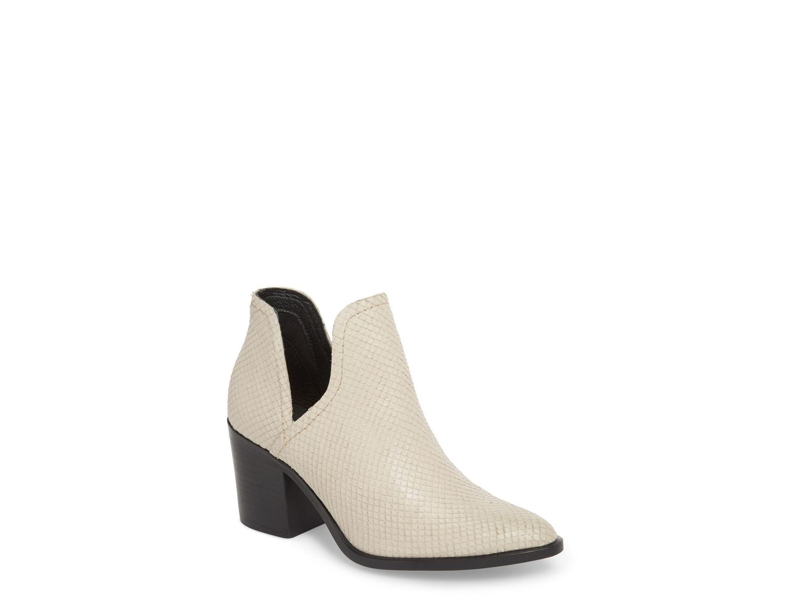 Steve Madden Petra Open Side Bootie in White Save 2% Lyst