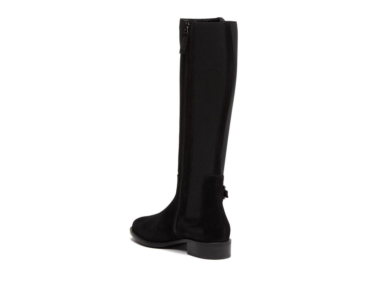 839b8656 Women's Black Natalee Waterproof Suede Riding Boot