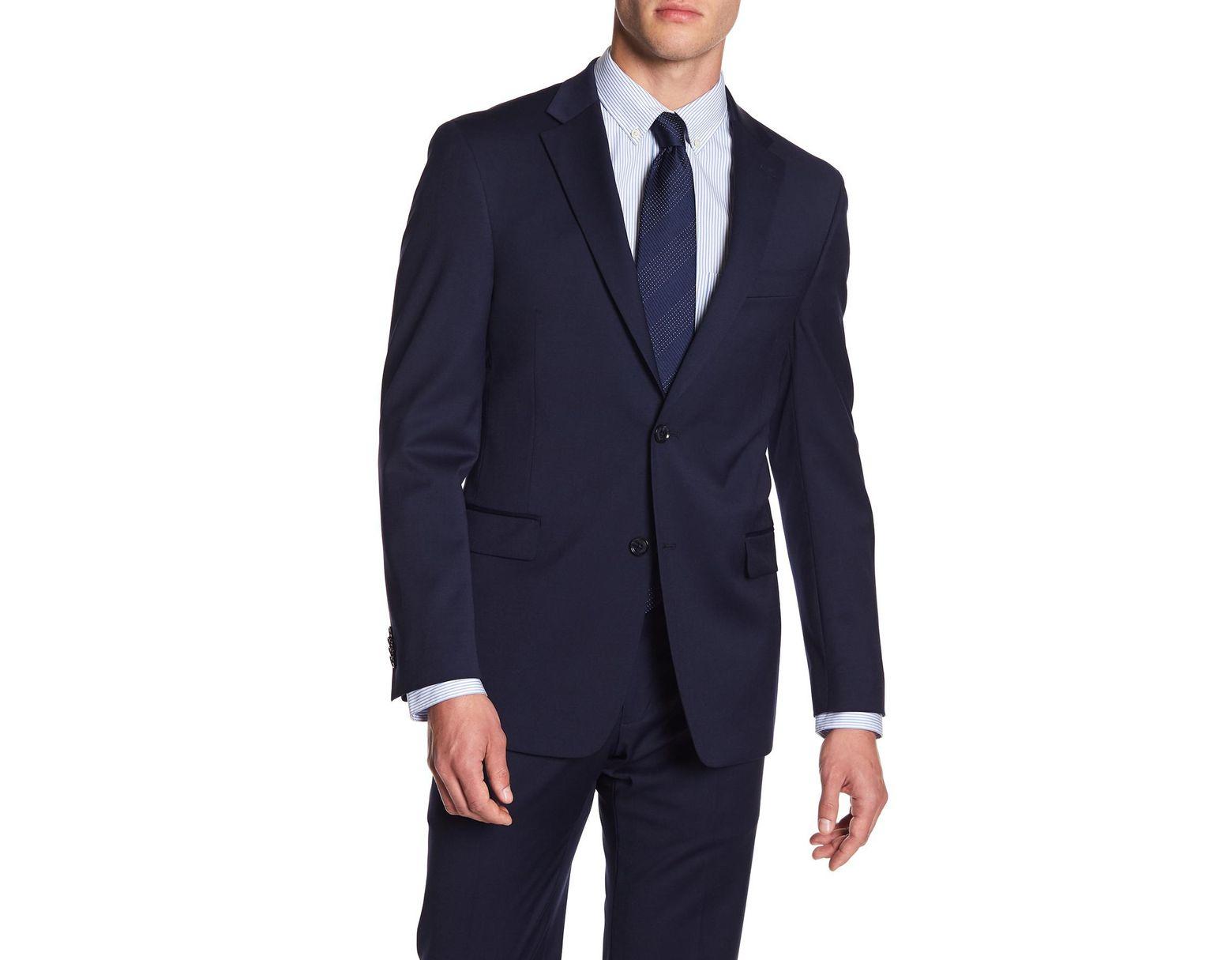 dcb5986f6d5 Tommy Hilfiger Adams Modern Fit Th Flex Performance Wool Blend Suit  Separates Jacket in Blue for Men - Lyst