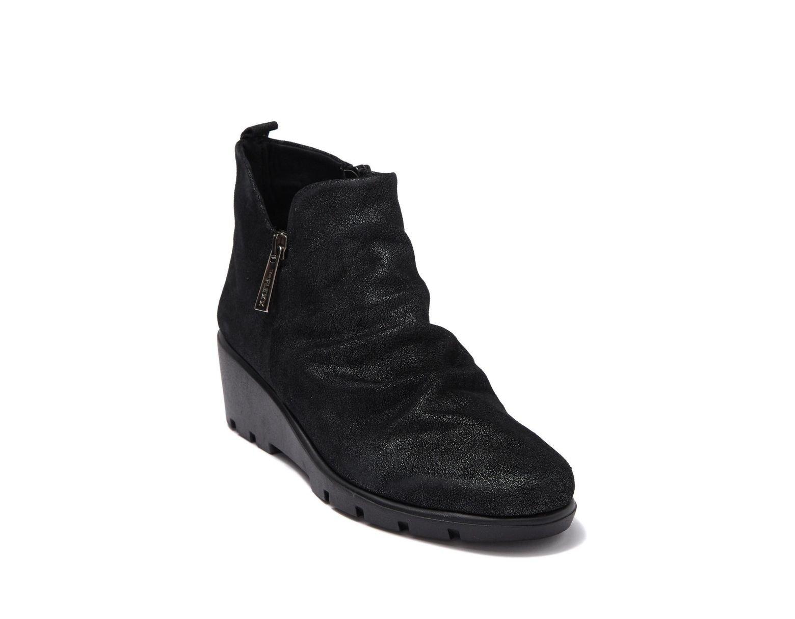 Women's Black Slingshot Wedge Ankle Boot