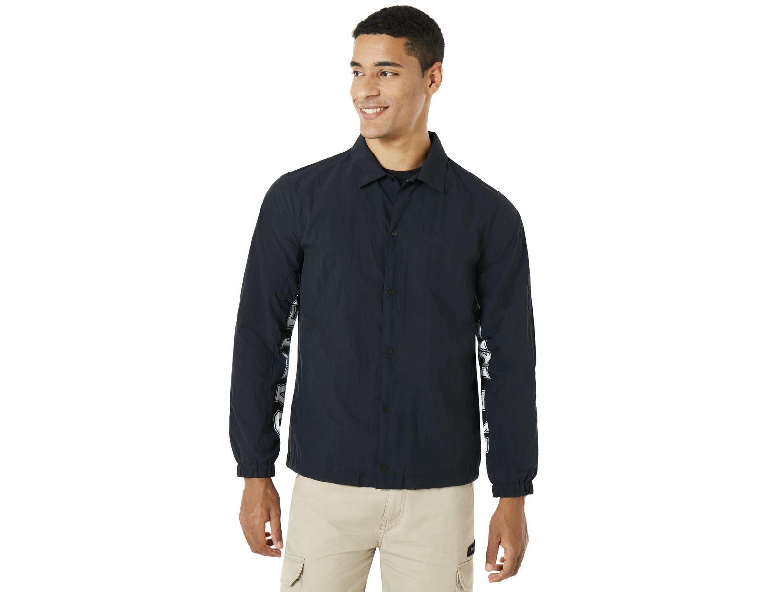 657b1715c Men's Blue Nylon Icon Coach Jacket