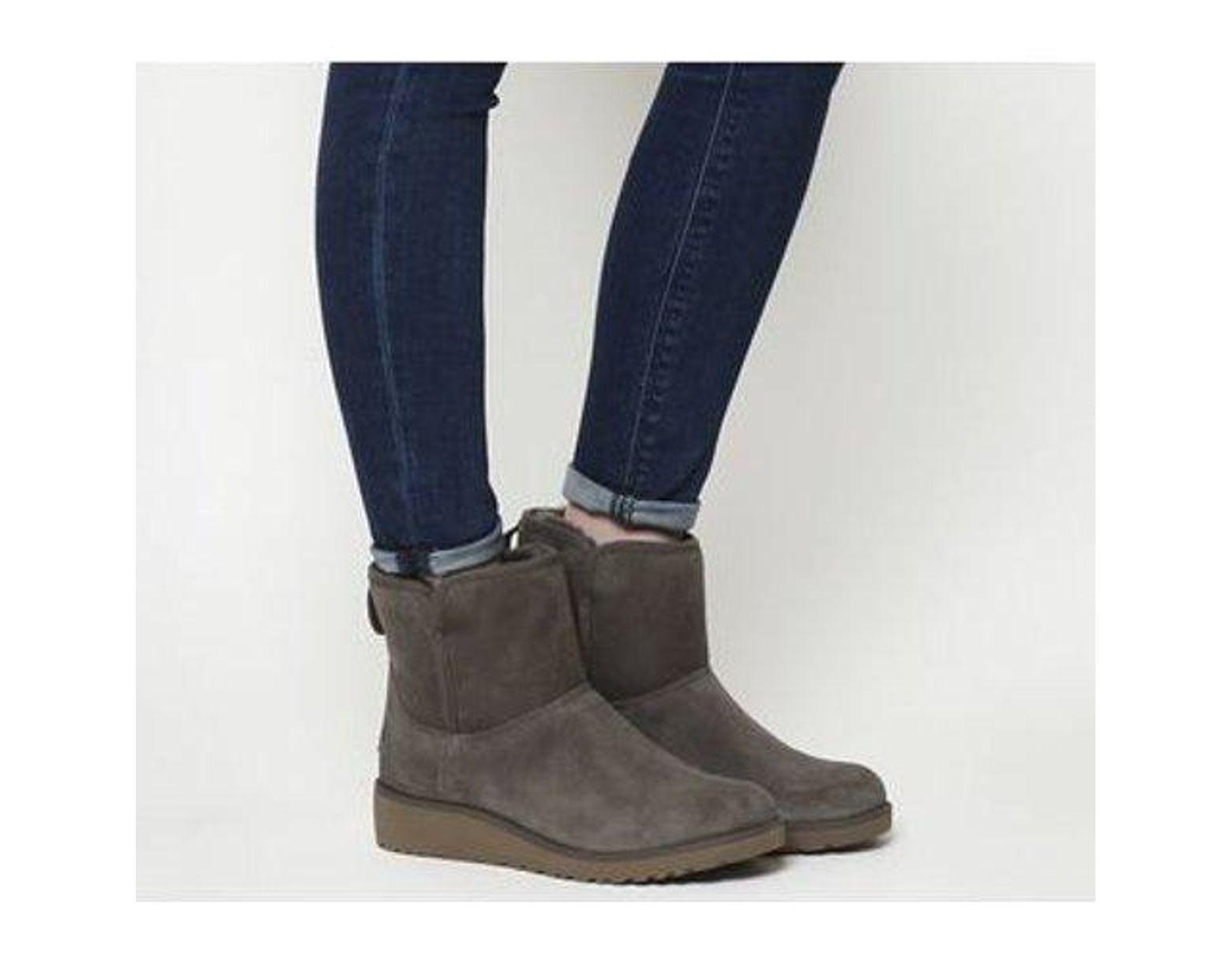 ae05c01b145 Women's Gray Classic Slim Kristin Mini Boots