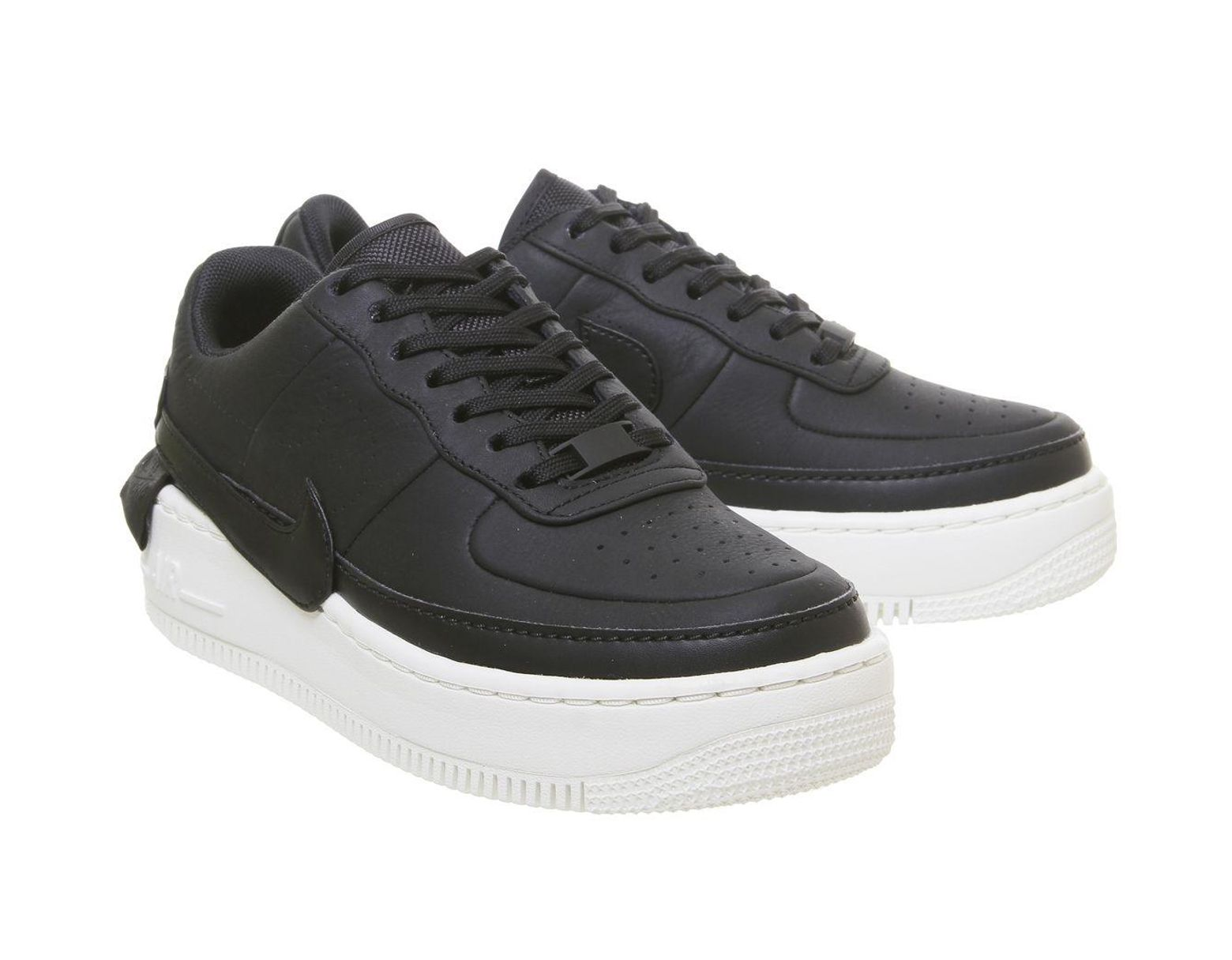 nike white & black air force 1 jester xx trainers