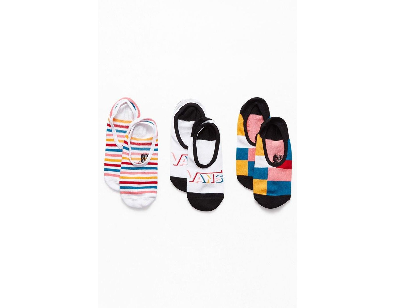 eb42f2fa6a Vans Patched Up Canoodle 3-pack Socks - Lyst