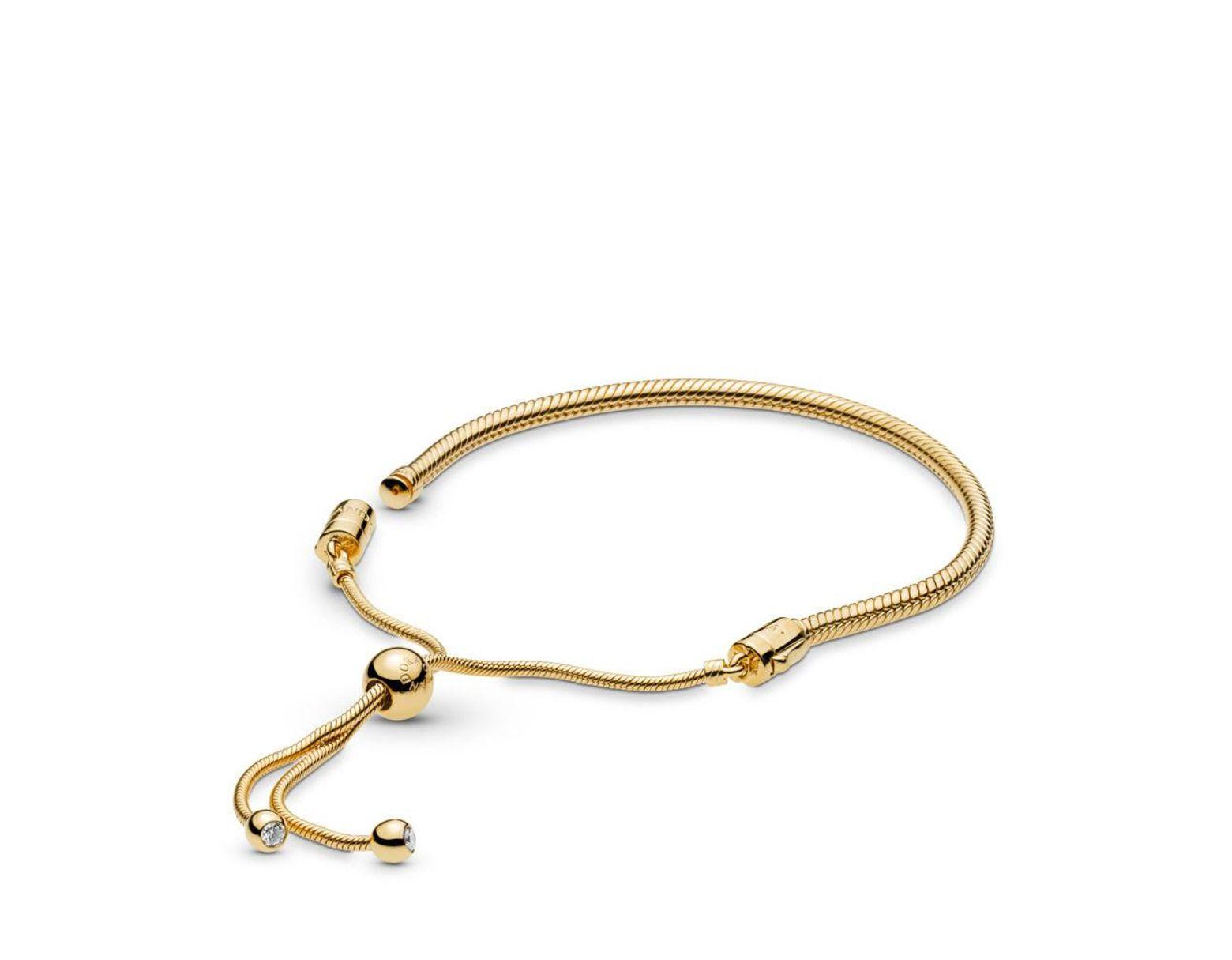 cb2eac7e1 PANDORA Shinetm Sliding Bracelet in Metallic - Lyst