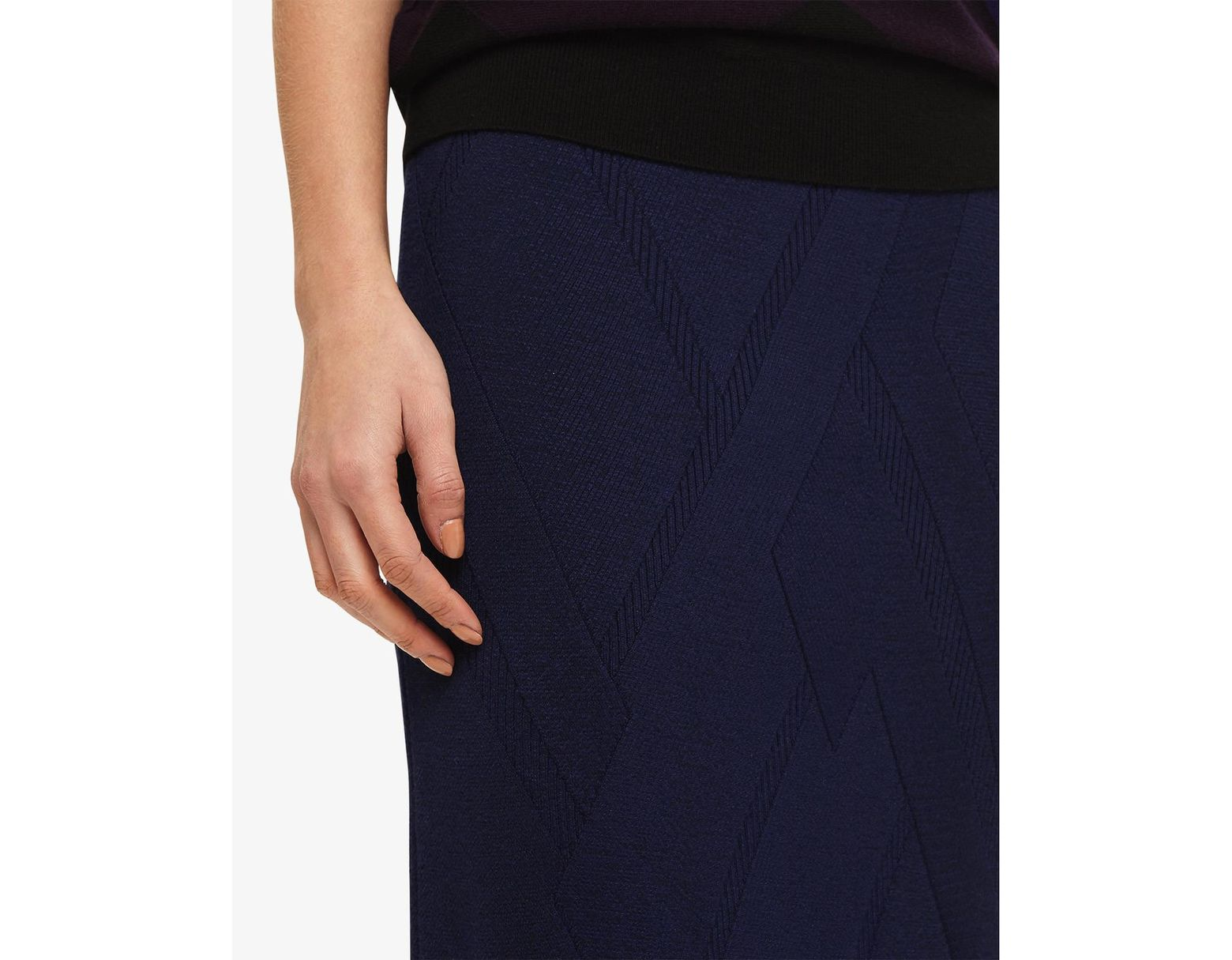 2c541054ea51 Phase Eight Ink Georgina Grid Stitch Skirt in Blue - Save 41% - Lyst