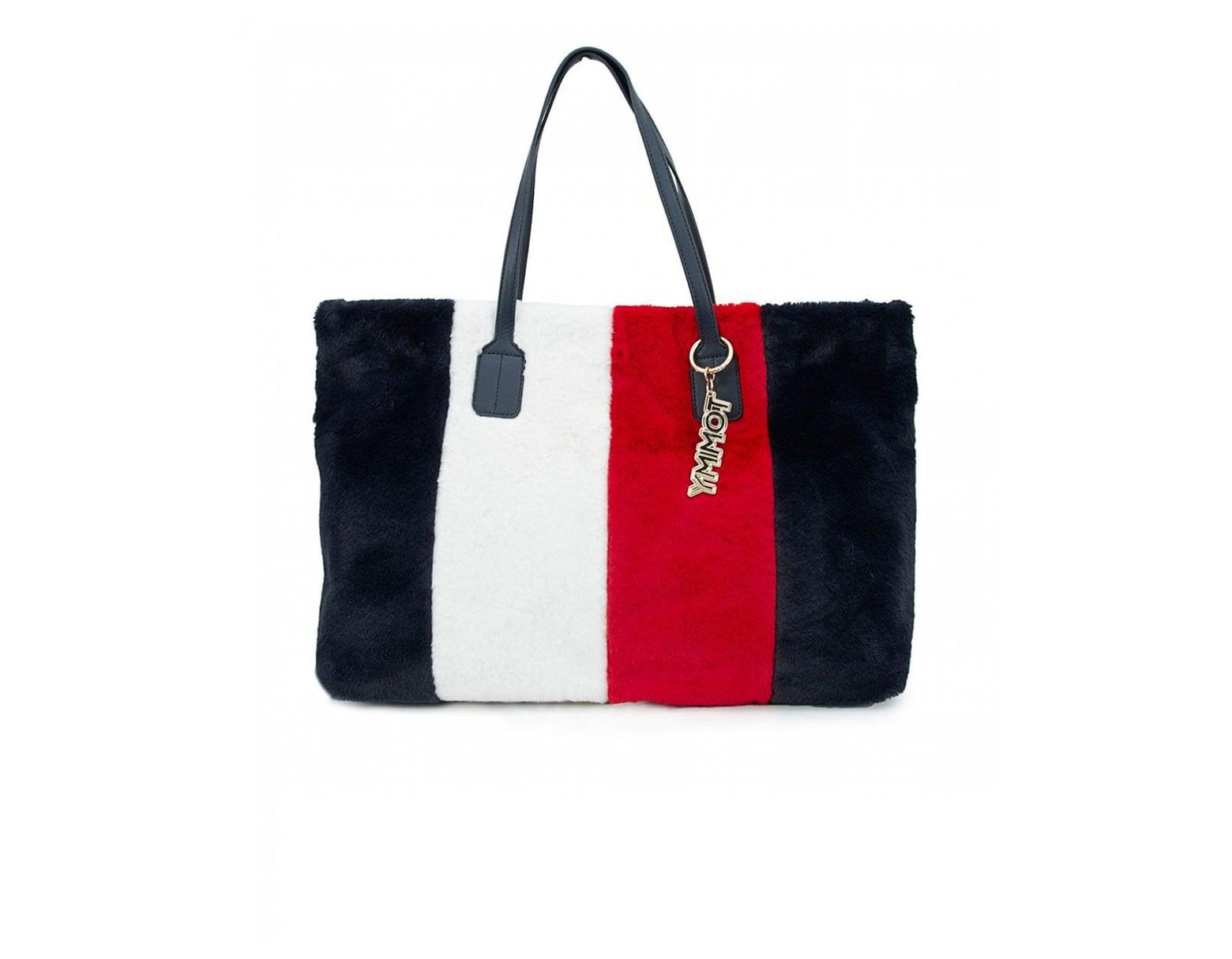 120db7ab4d3 Tommy Hilfiger Cool Tommy Faux Fur Tote Bag in Red - Lyst