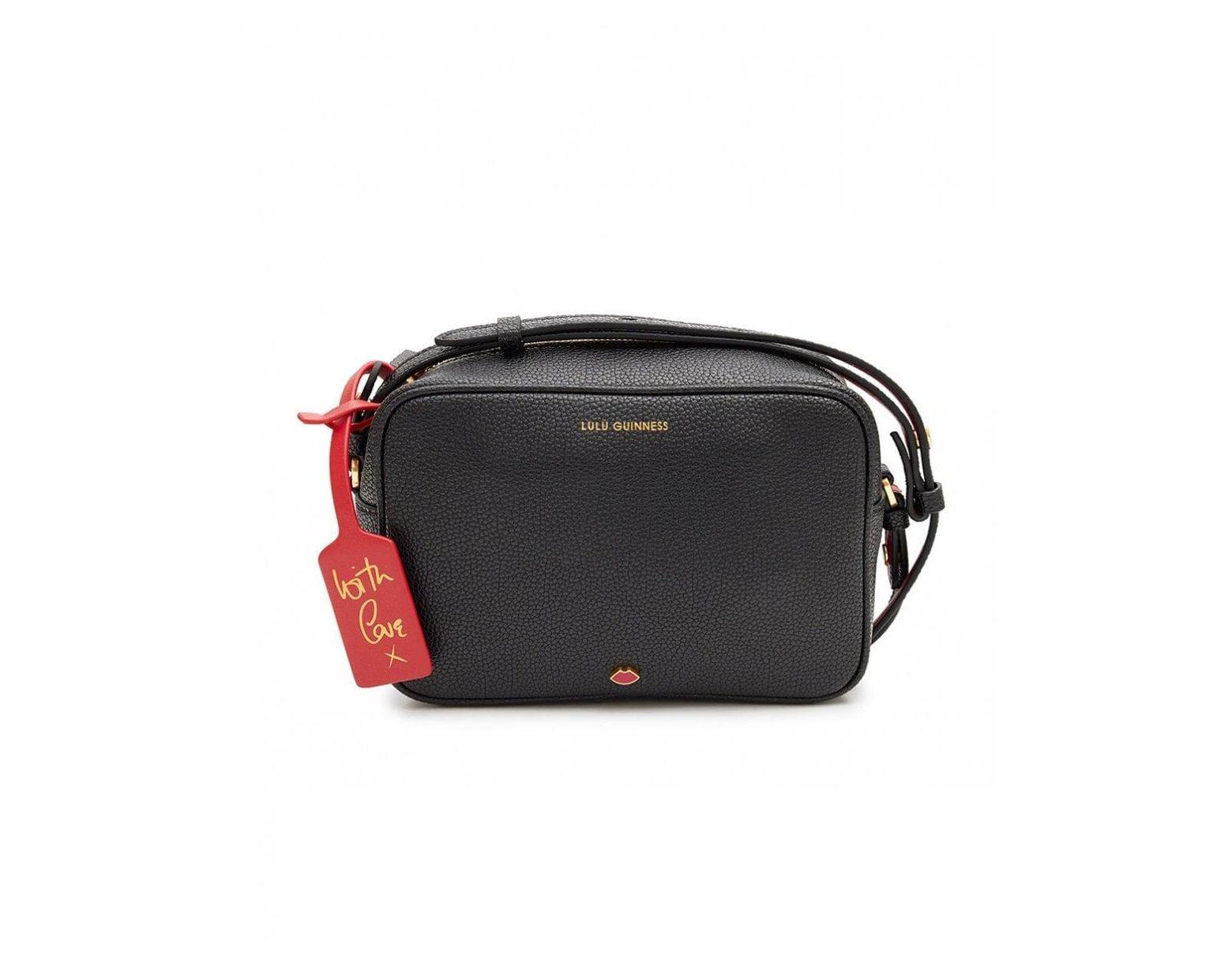 062d8b10270 Lulu Guinness Leather Patsy Cross Body Bag in Black - Lyst