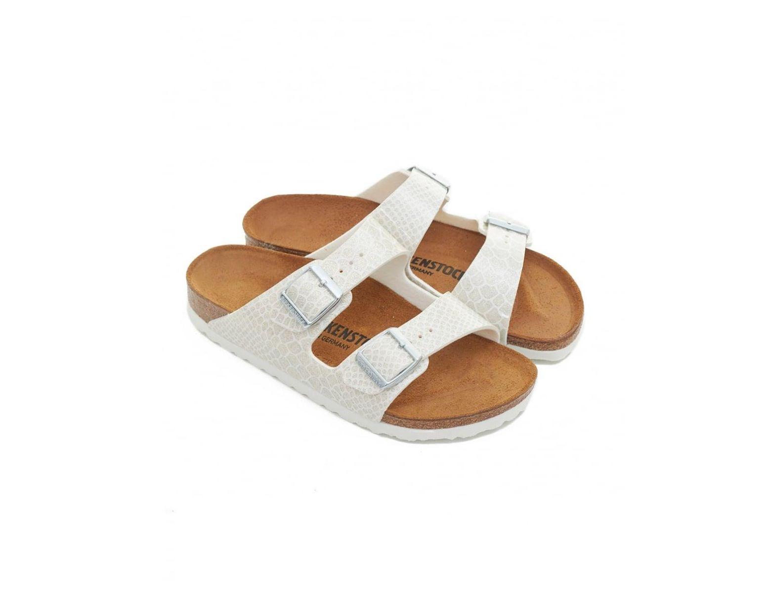 Sandals White Two Strap Women's Arizona Narrow QrCoeWxdB