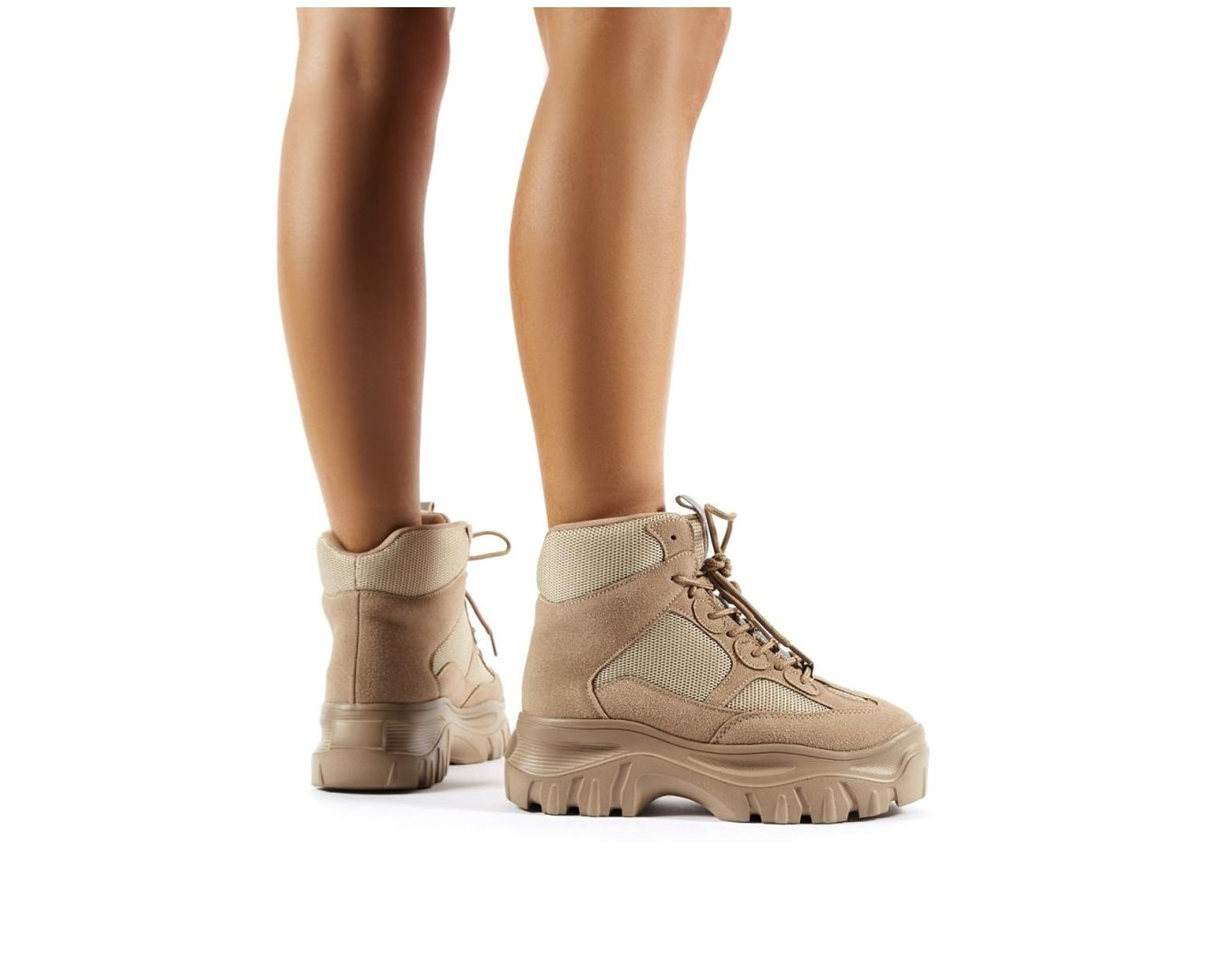 bef1ae0762e Women's Natural Ironic Sand Chunky Sole Ankle Boots