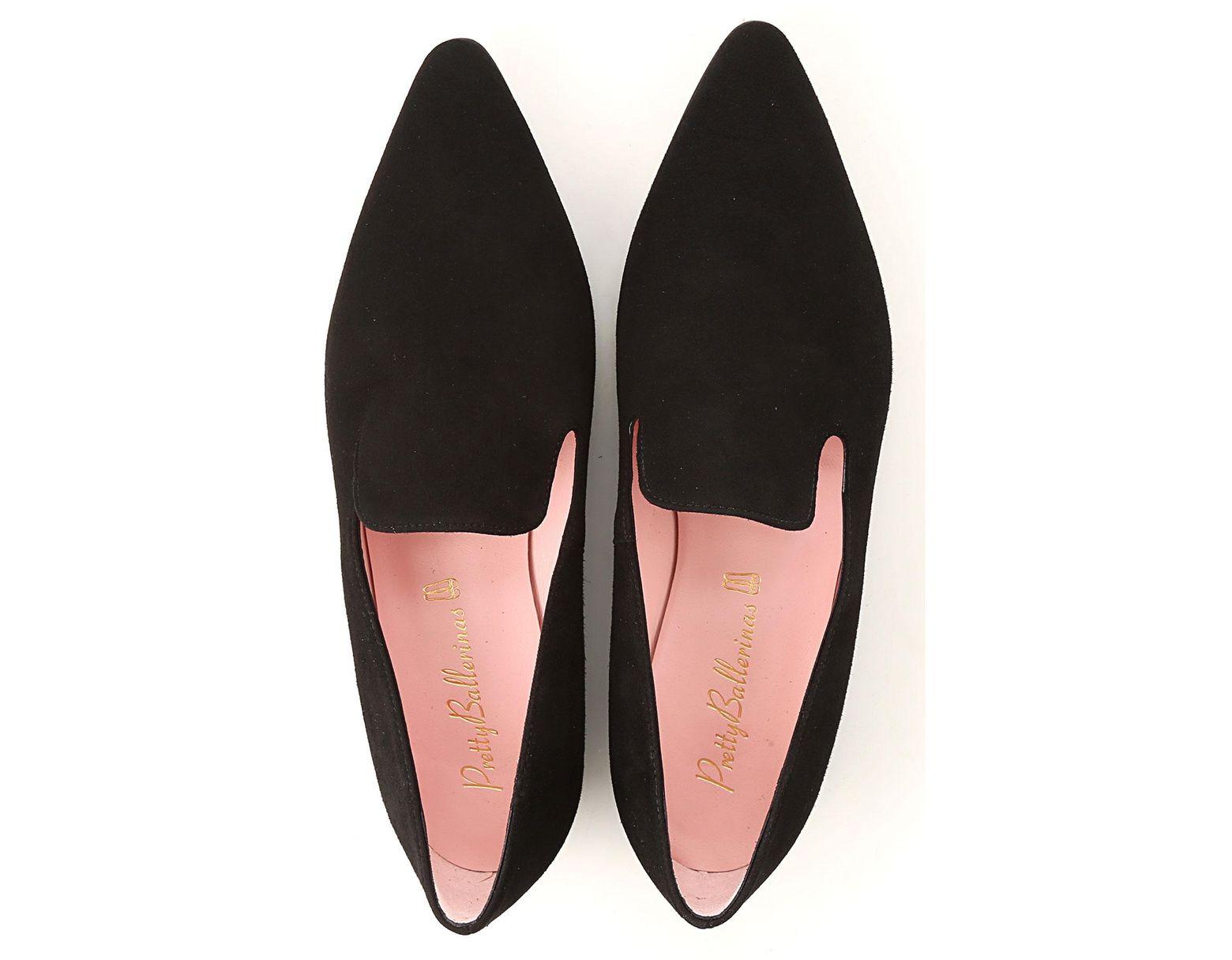 Black Ballet Flats Ballerina Shoes For Women