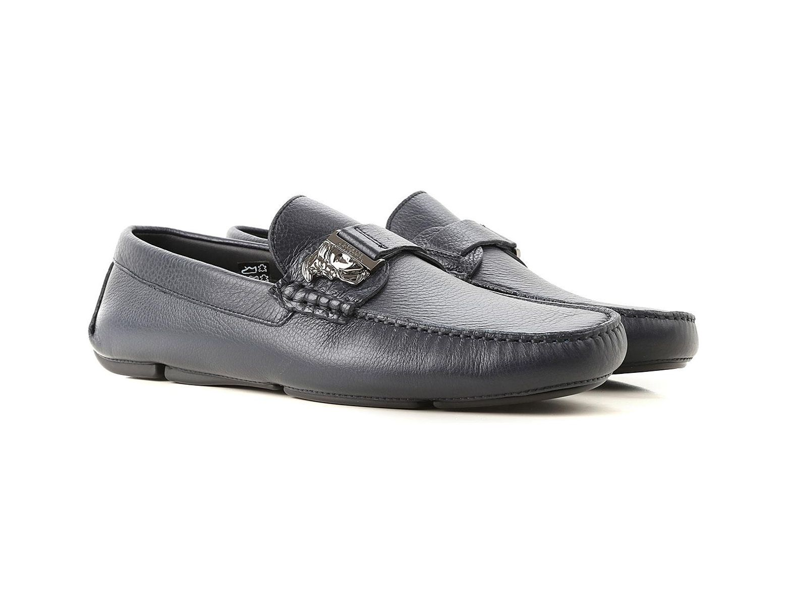 b3f52f24df Versace Loafers For Men On Sale in Blue for Men - Lyst