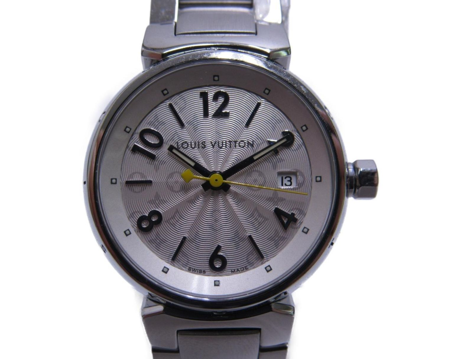5be4f475b Louis Vuitton Auth Tambour Hologram Sm Watch Q121k Stainless Steel (ss) Used  Lv in Metallic - Lyst