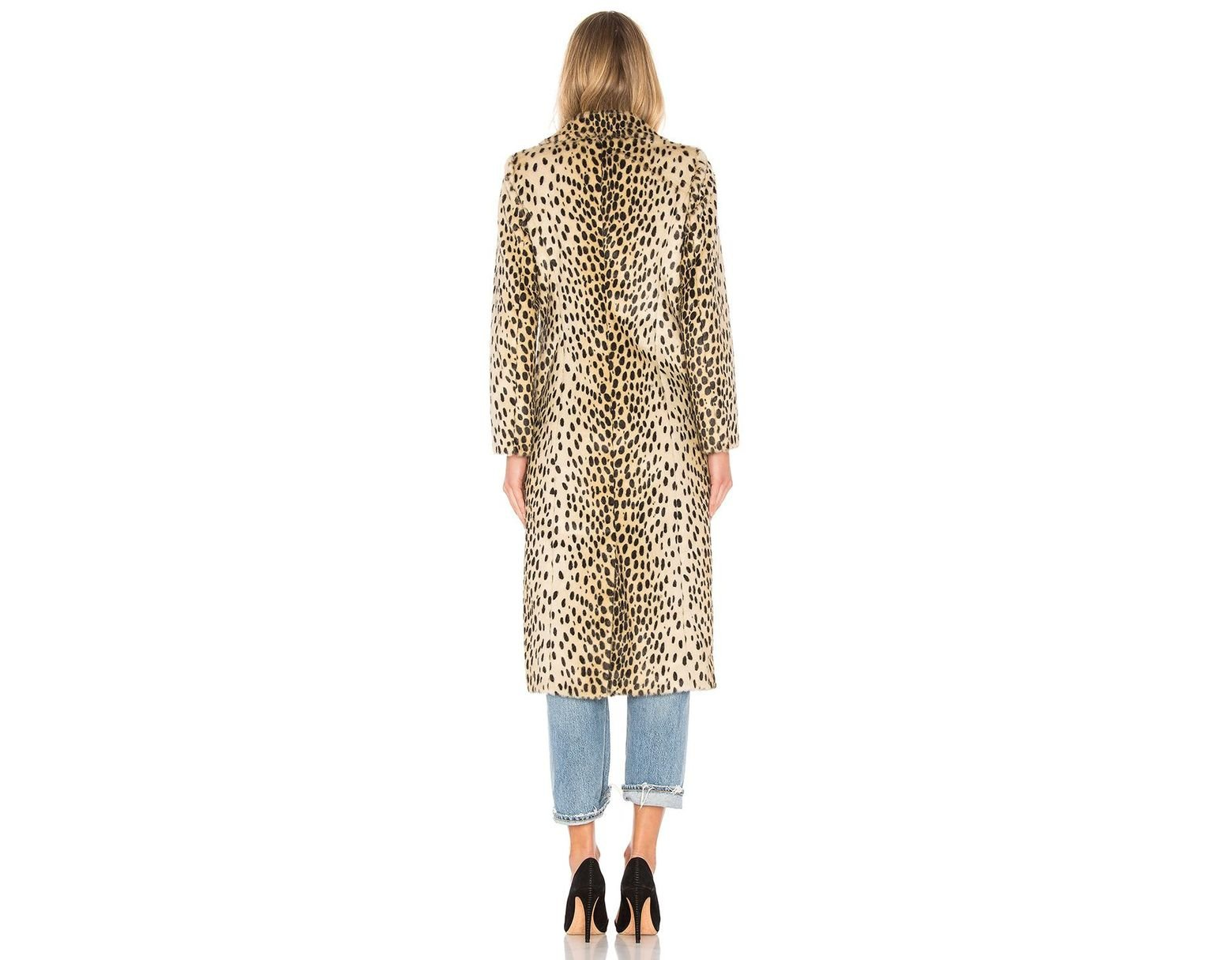 7a5ee6f850b9 House of Harlow 1960 X Revolve Perry Faux Fur Coat - Save 22% - Lyst