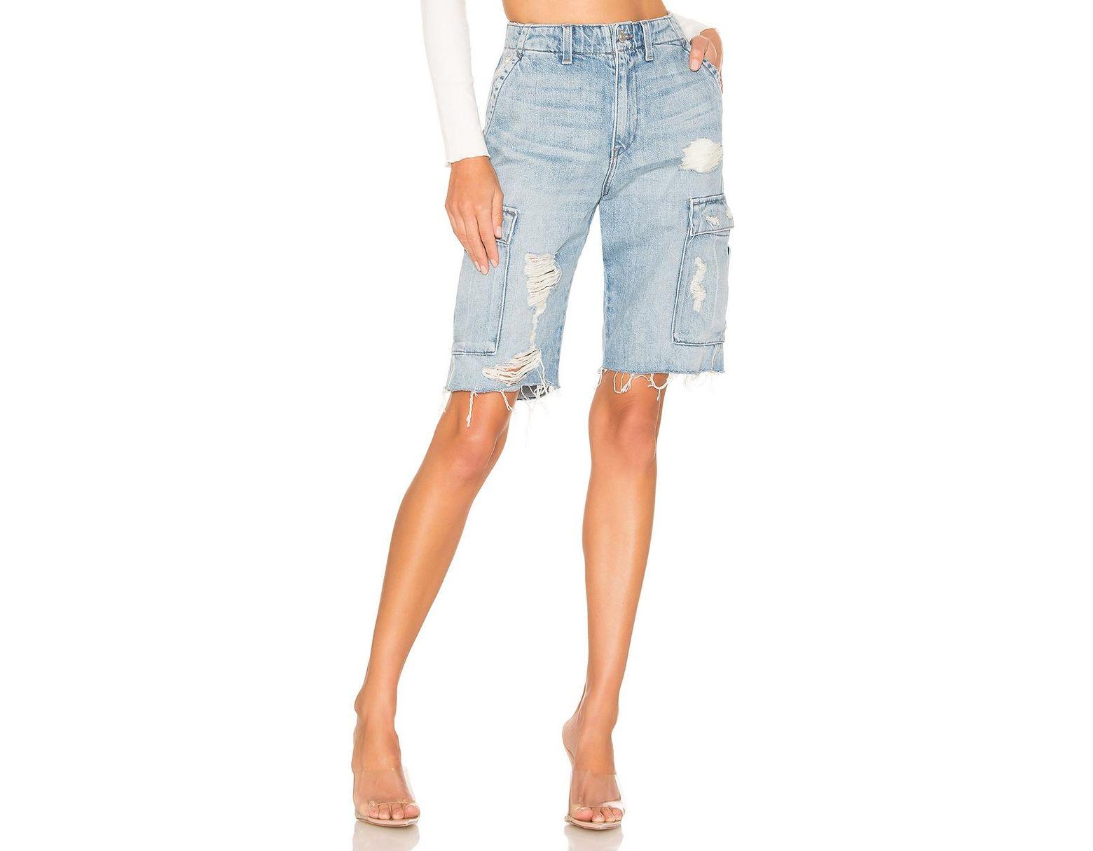 86b8eaf5d6 Hudson Jeans Jane Relaxed Cargo Short in Blue - Lyst