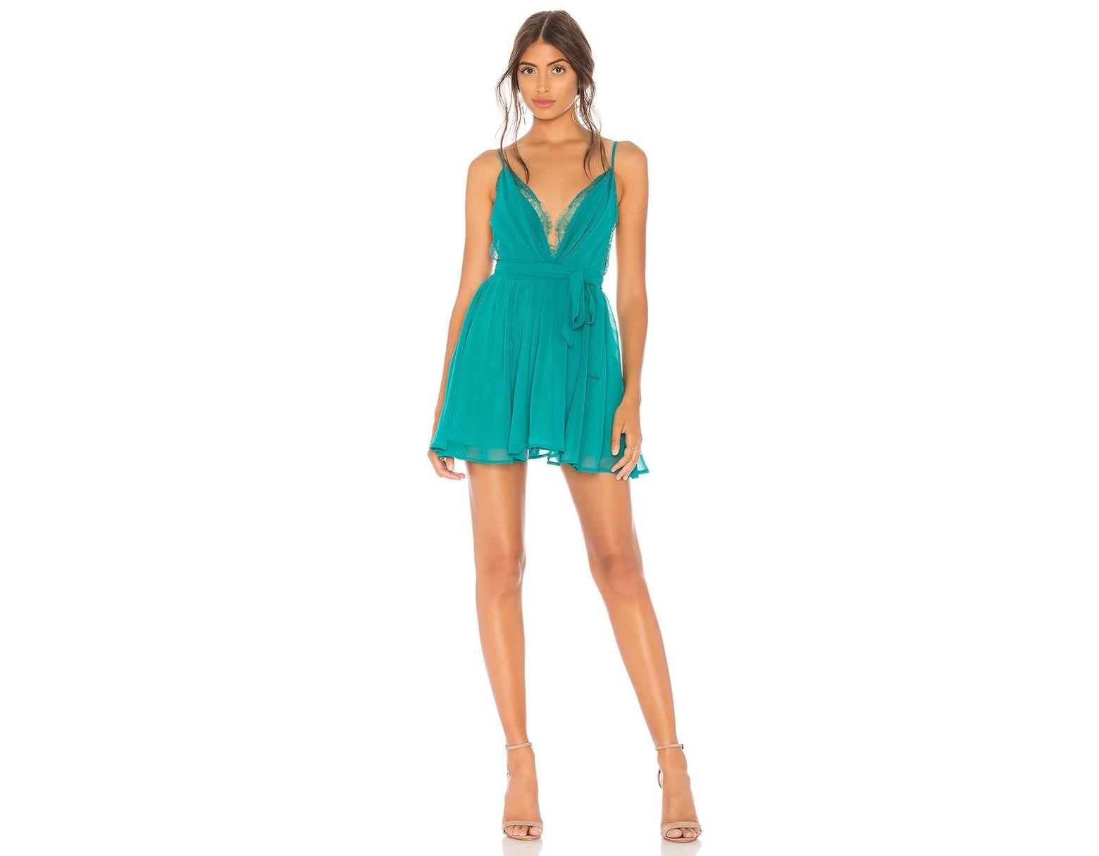 446dfc4f9990d Michael Costello X Revolve Justin Mini Dress in Blue - Lyst