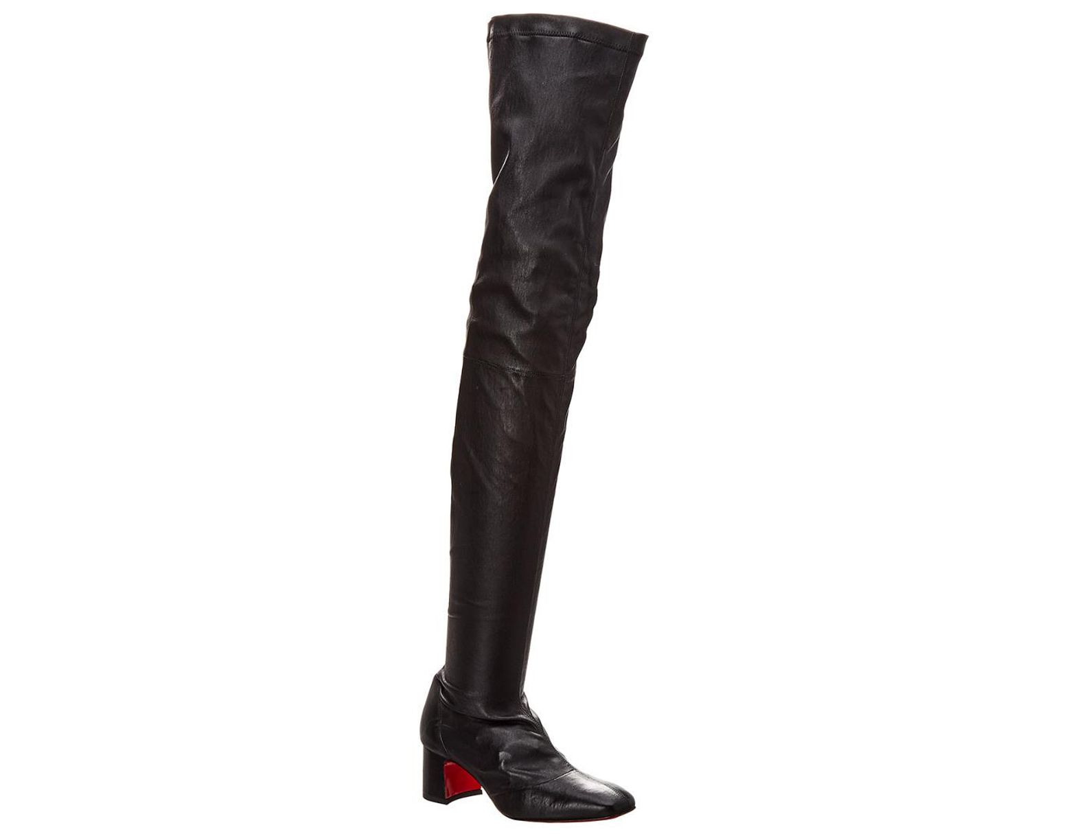 787a75a4153 Christian Louboutin Sursamoto 55 Leather Over-the-knee Boot in Black ...