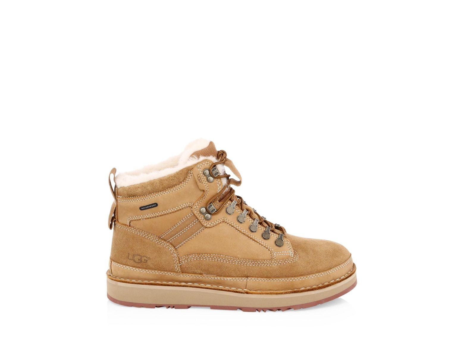 fbf97ca4f9e Men's Brown Avalanche Hiker Suede & Shearling Boots