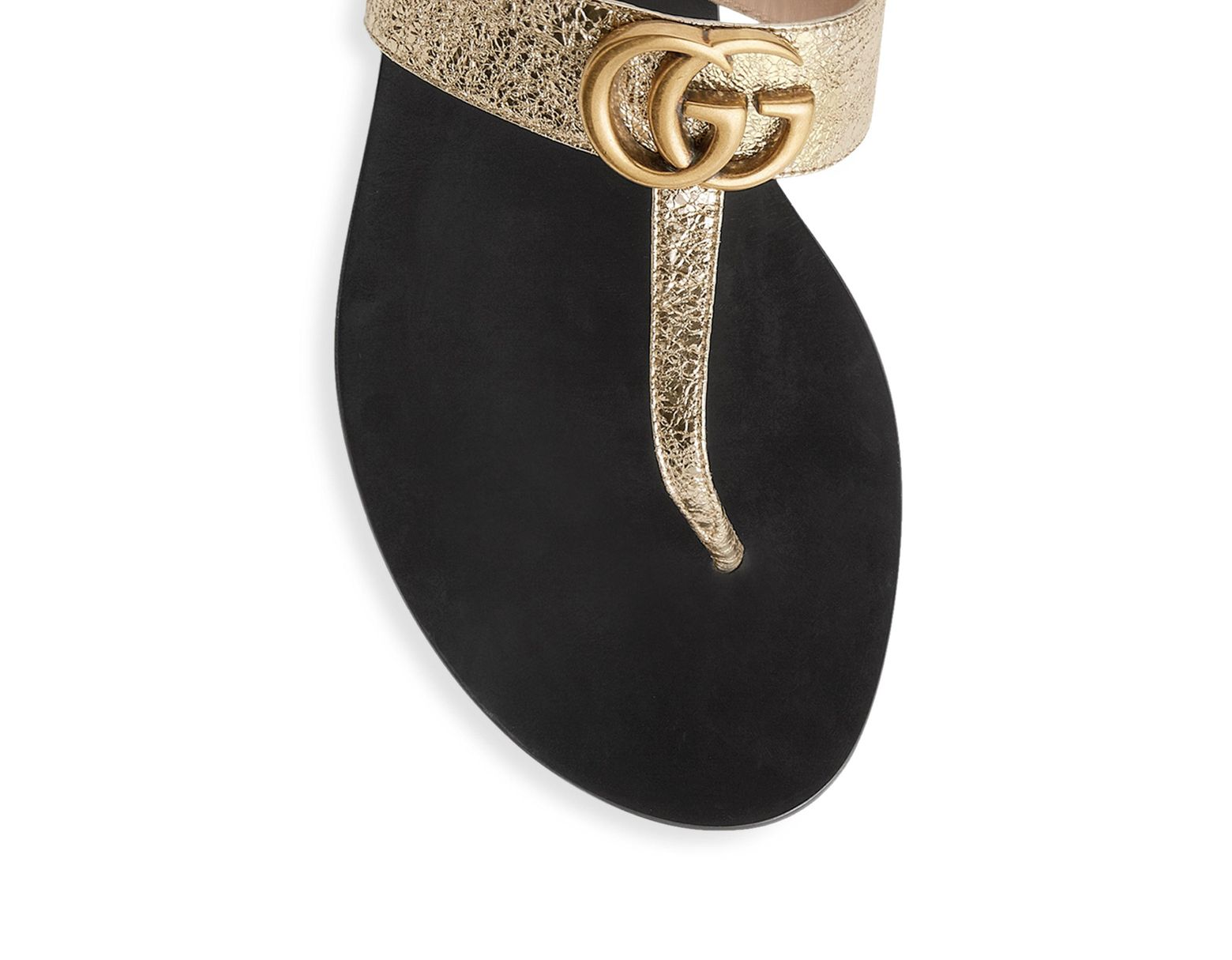 d24ac5cc2f Women's Marmont Leather Thong Sandals With Double G