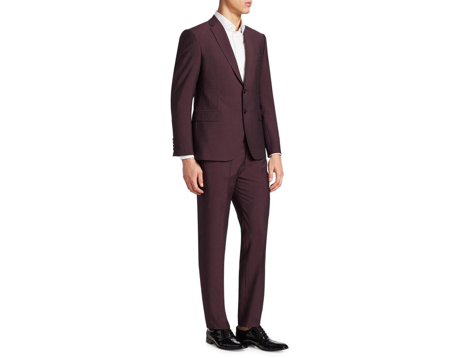 dc594abafafe3 Emporio Armani Merlot Mohair-blend Suit in Purple for Men - Lyst