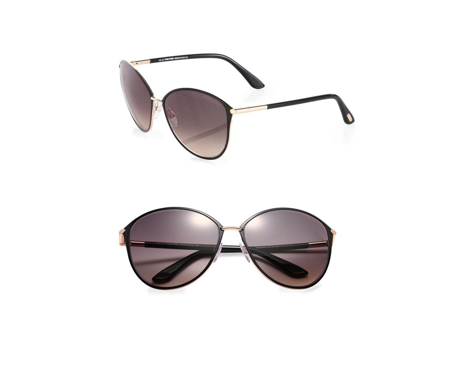 4f157d5a Women's Black Penelope Metal Cat Eye Sunglasses