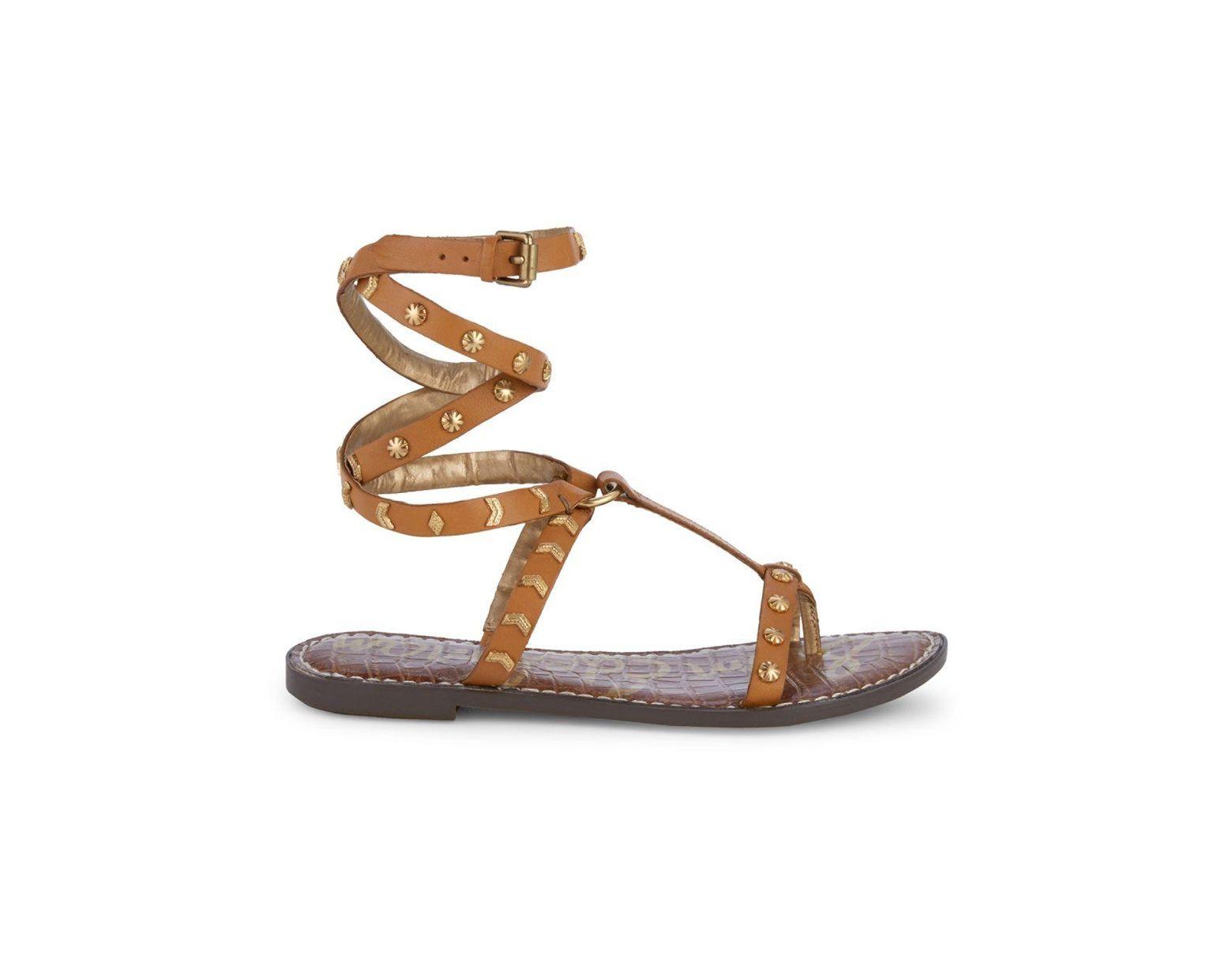 Wraparound Sandals Women's Studded Glendale Brown 3FJu1lKTc