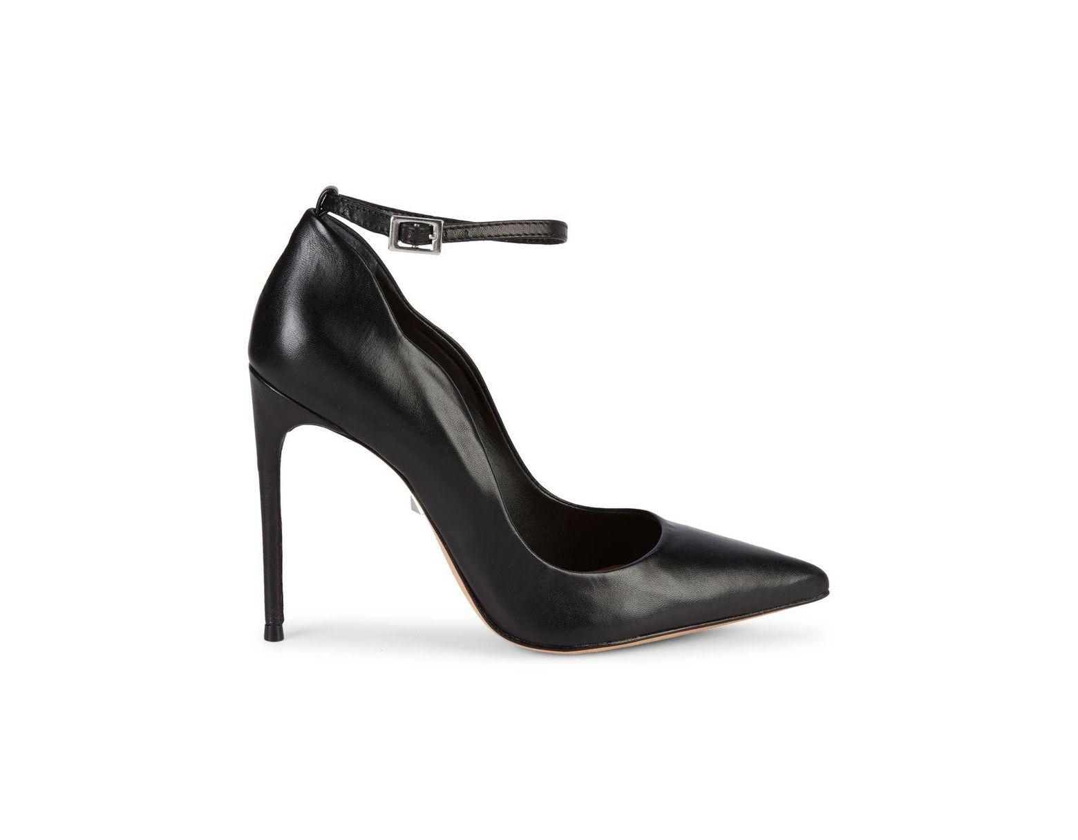 0351af7ca87 Women's Black Thaynara Ankle Strap Leather Stiletto Pumps
