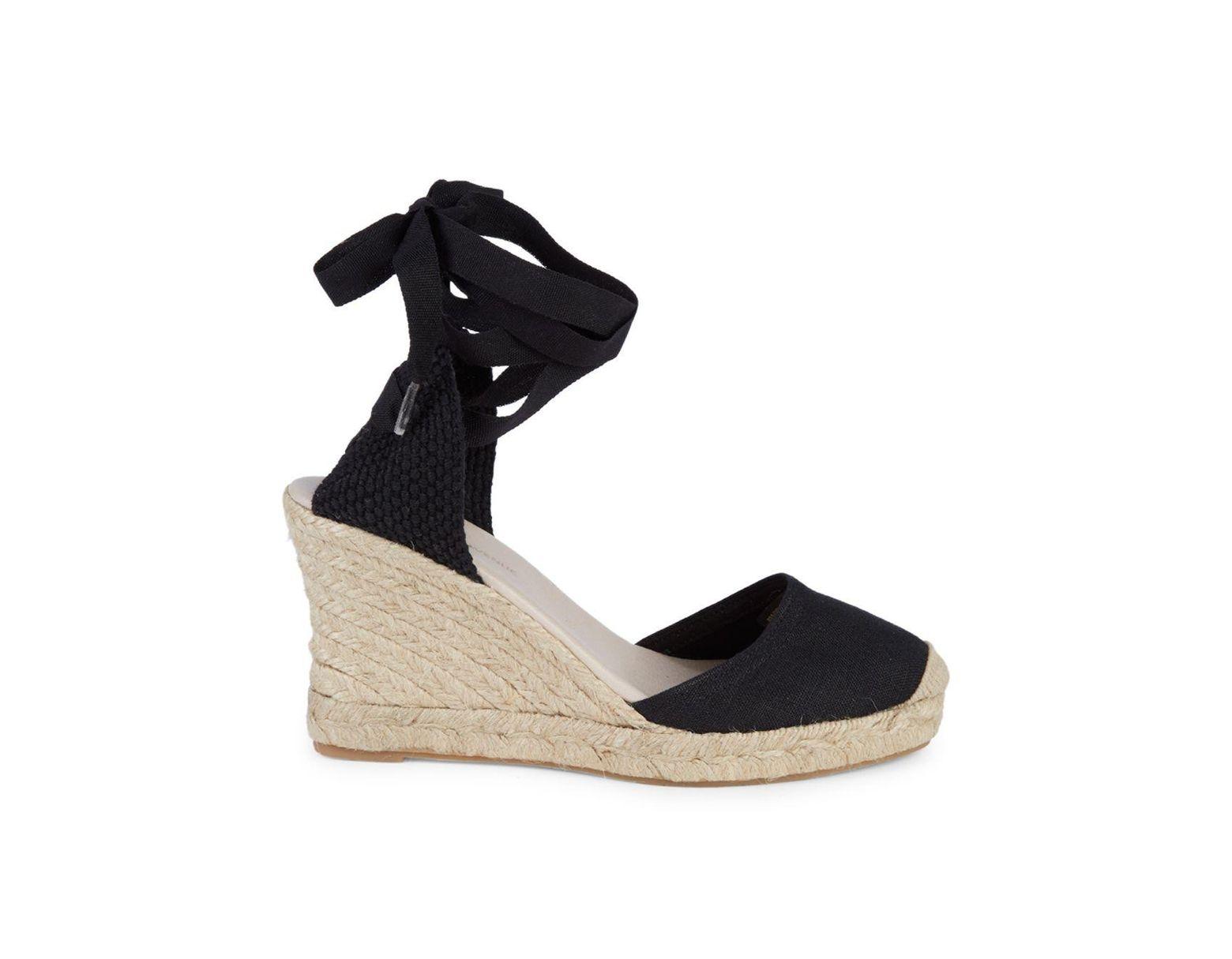 47bf86a1df2 Women's Black Polina Espadrille Wedge Sandals
