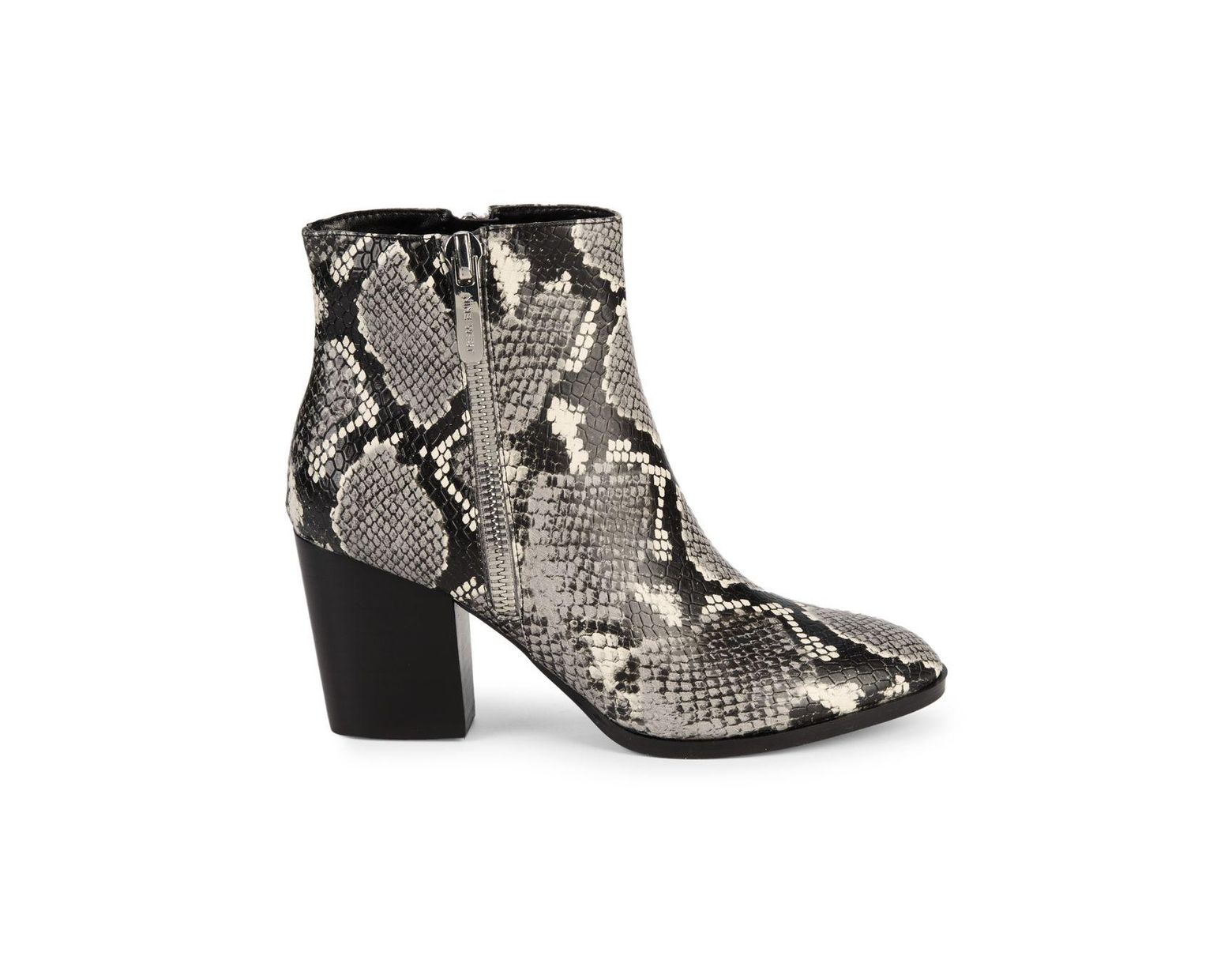 44155569534 Women's Gray Niomi Snakeskin-embossed Ankle Boots