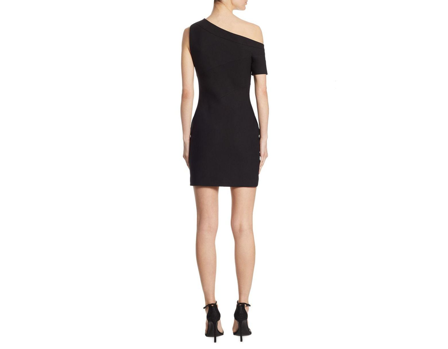 312ecfdc4d0 Cinq À Sept Coralisa Asymmetric Mini Dress in Black - Save 34% - Lyst