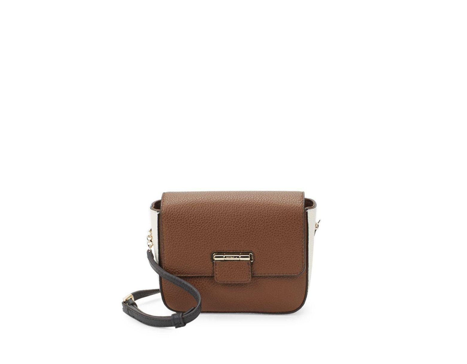 Brown Flap Artesia Leather Women's Mini Crossbody Bag sQrtdhC