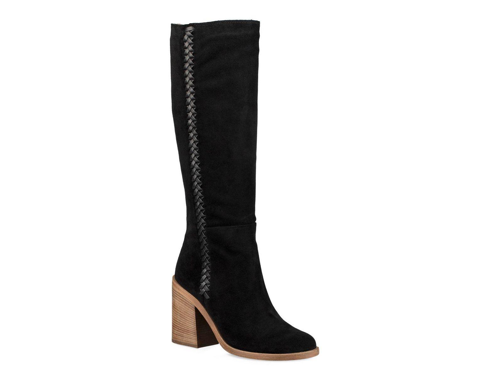 9f16a63c46f Black Women's Maeva Suede Mid-calf Boots