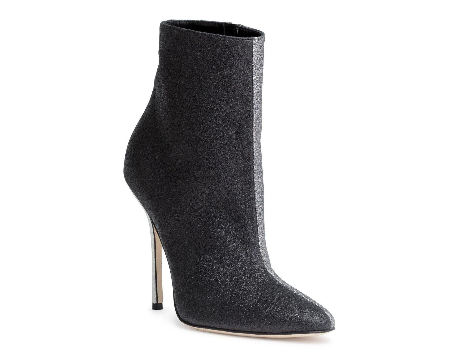 050b224daa79a Manolo Blahnik Insopolobi 115 Two Tone Glitter Boots in Black - Lyst