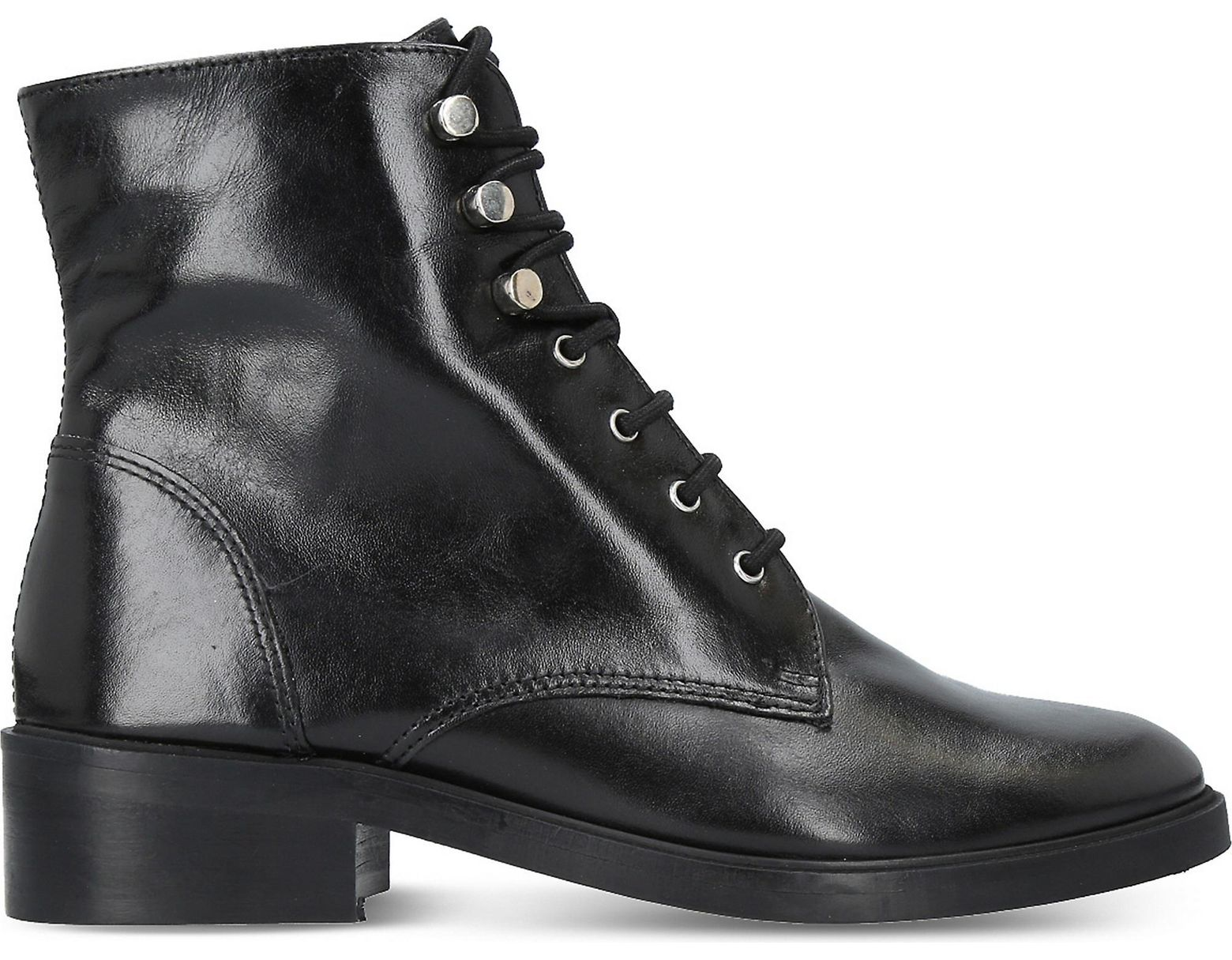 e6768534c6a Women's Black Skewer Leather Boots