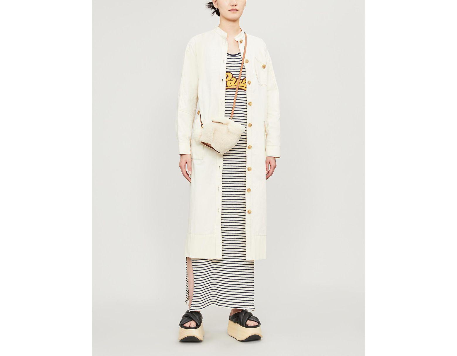 4f509ecda5 Women's Blue X Paula's Ibiza Logo-patch Striped Cotton And Linen-blend Maxi  Dress