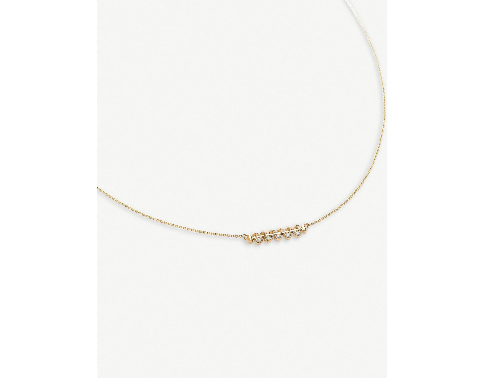 fde0bf8f5147b Women's Metallic Silas 14ct Yellow Gold And Diamond Necklace