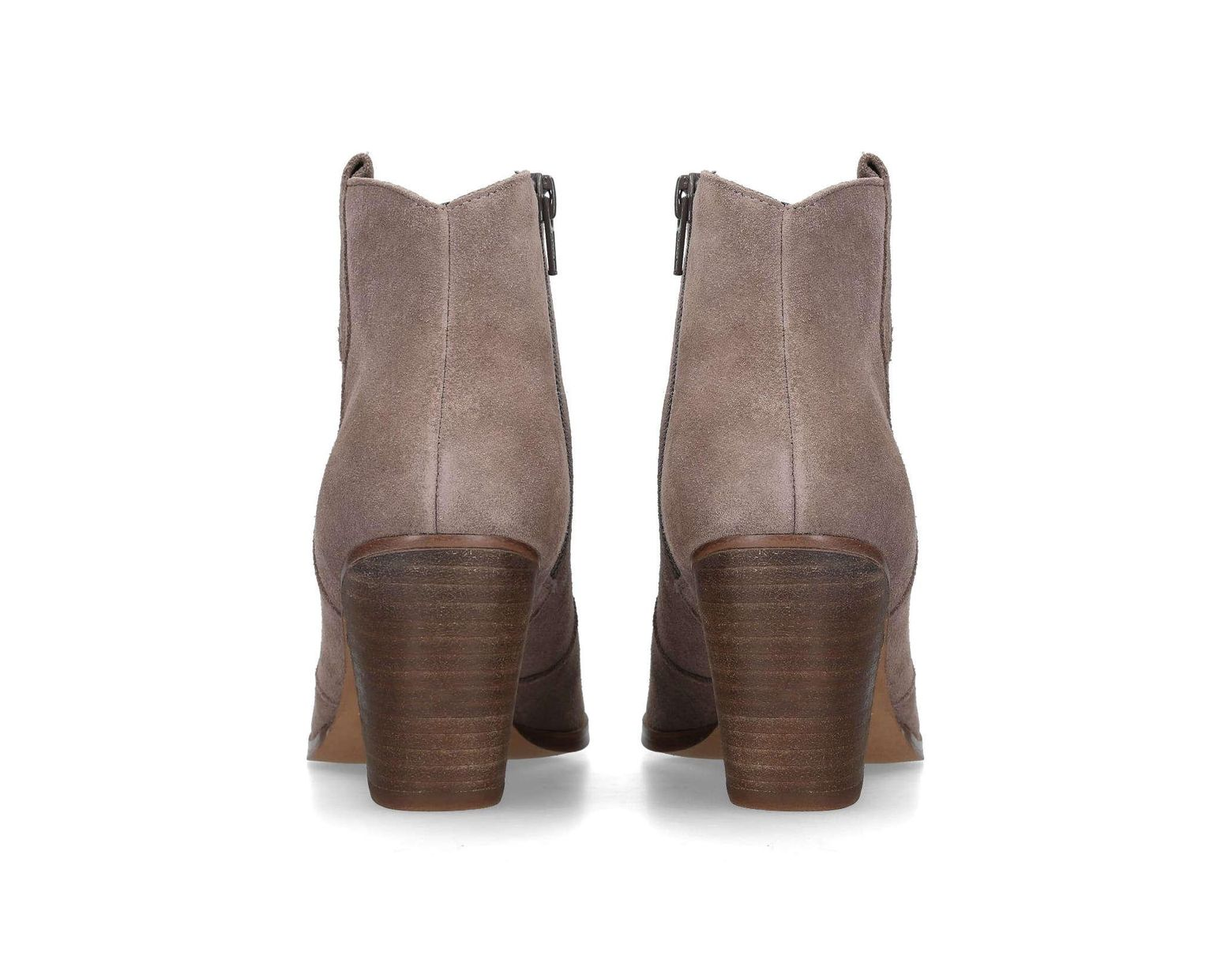 01486ea2231 Women's Brown Sade 2 75 Mm Heel Ankle Boots Taupe