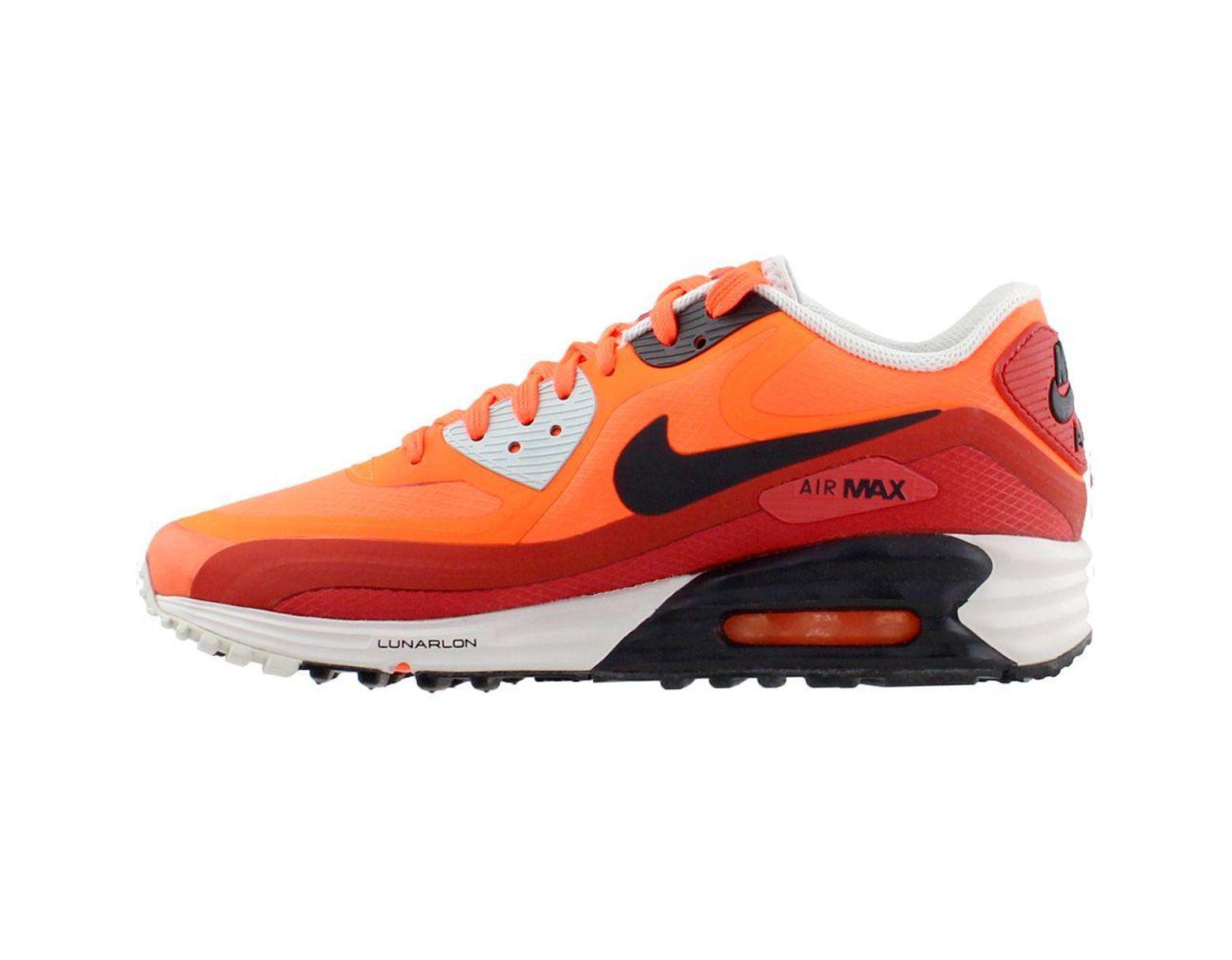 meilleur authentique 3060a 13227 Men's Orange Air Max Lunar90 Wr