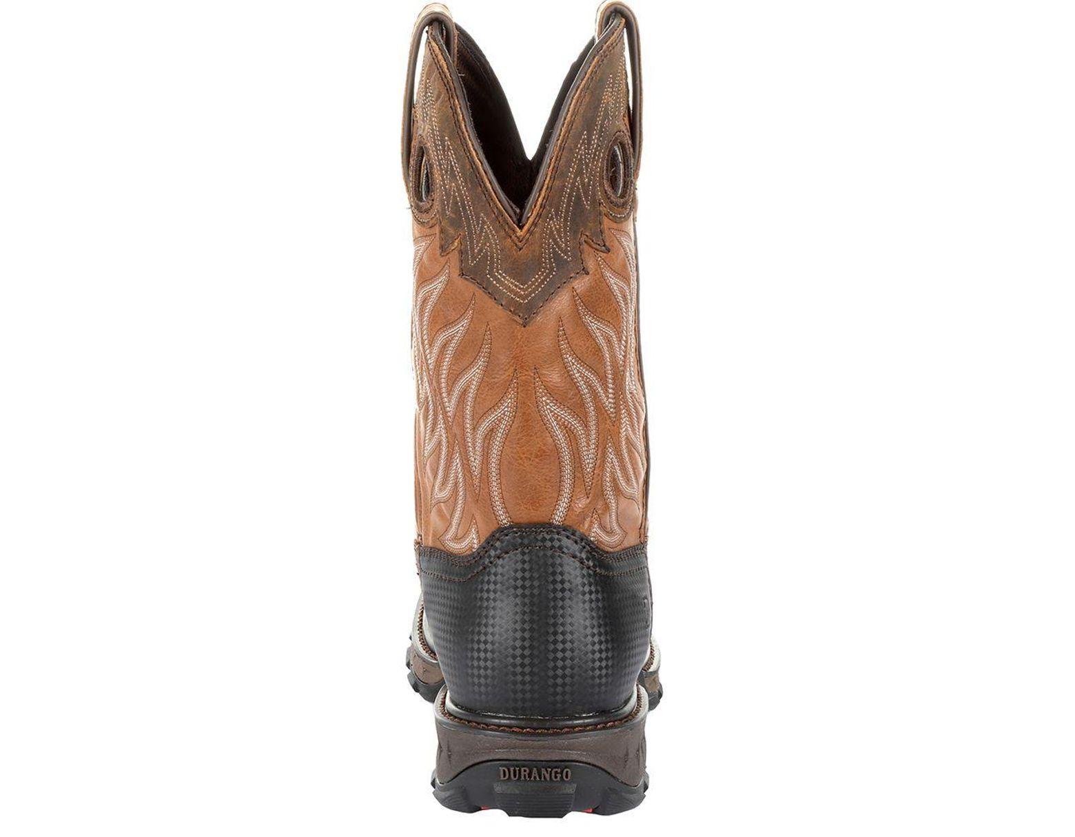 2394137eb57 Durango Maverick Xp Steel Toe Waterproof Western Work Boot in Brown ...