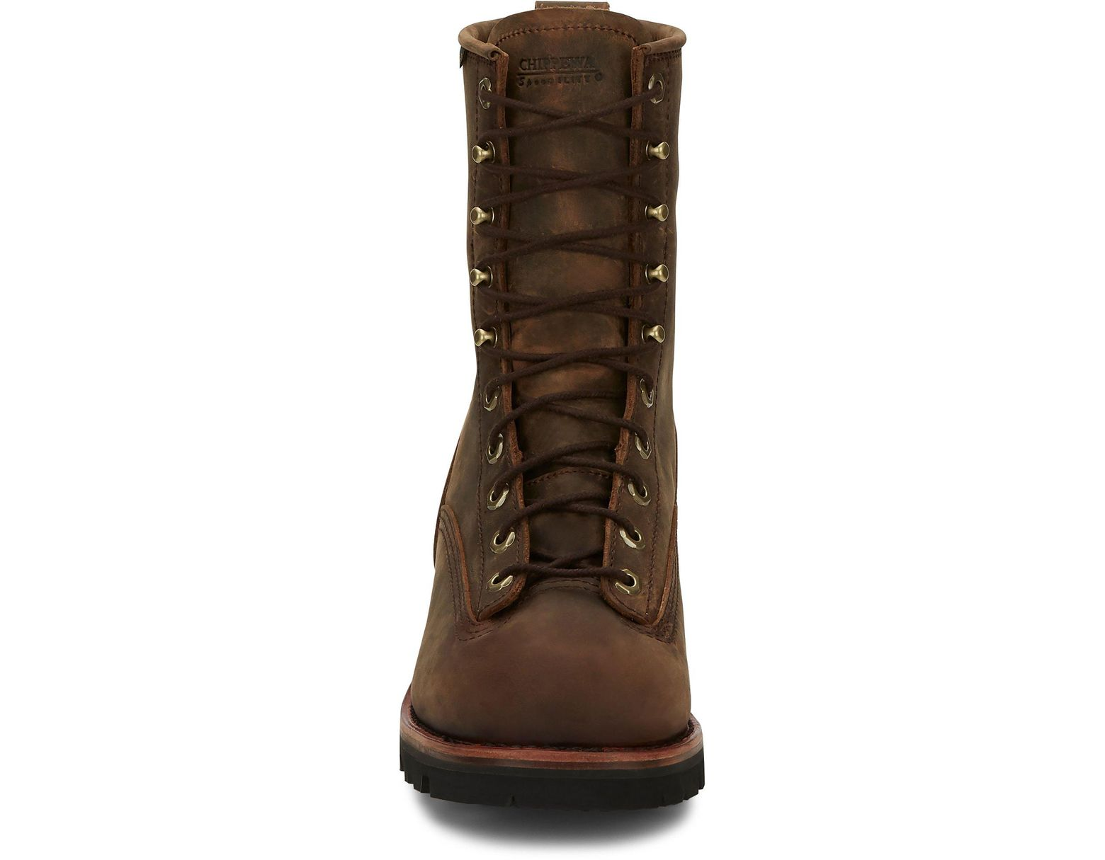 f27dd64795b Men's Brown Bay Apache Waterproof Plain 8 Waterproof Lace To Toe LOGGER