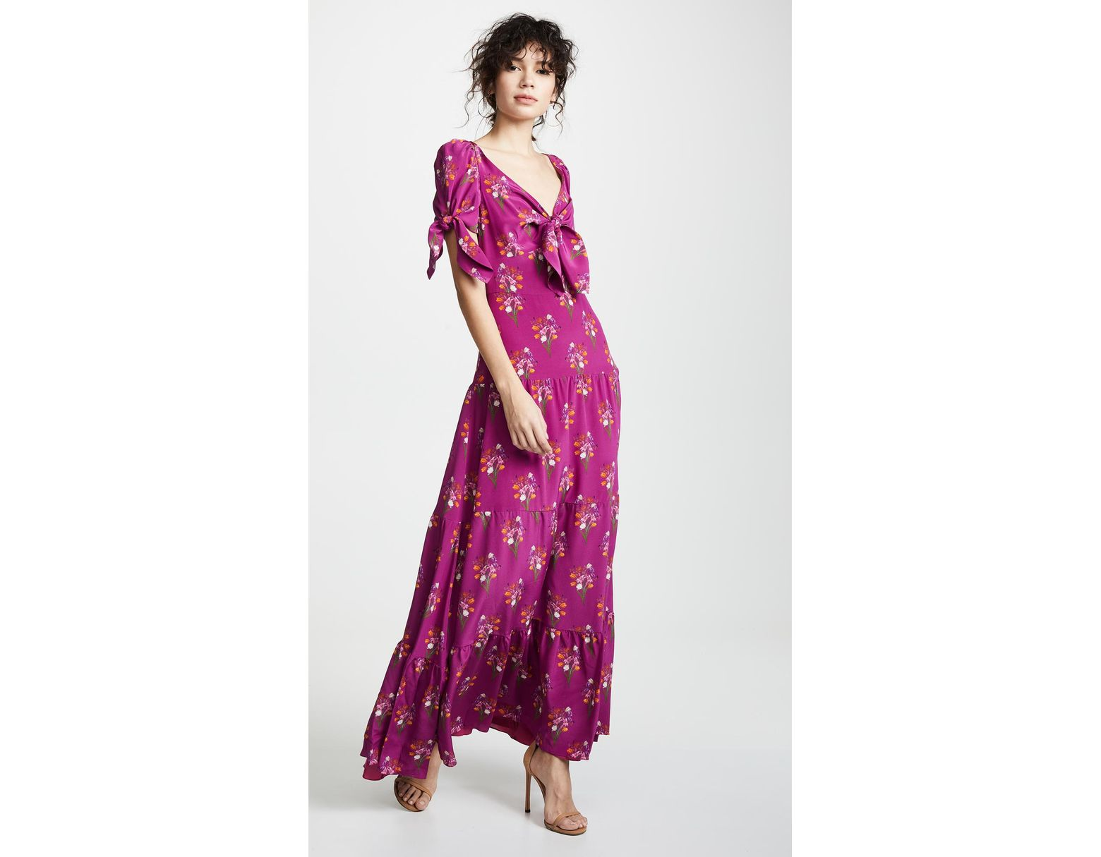 ab31443ebd Lyst - Borgo De Nor Ophelia Maxi Dress in Pink
