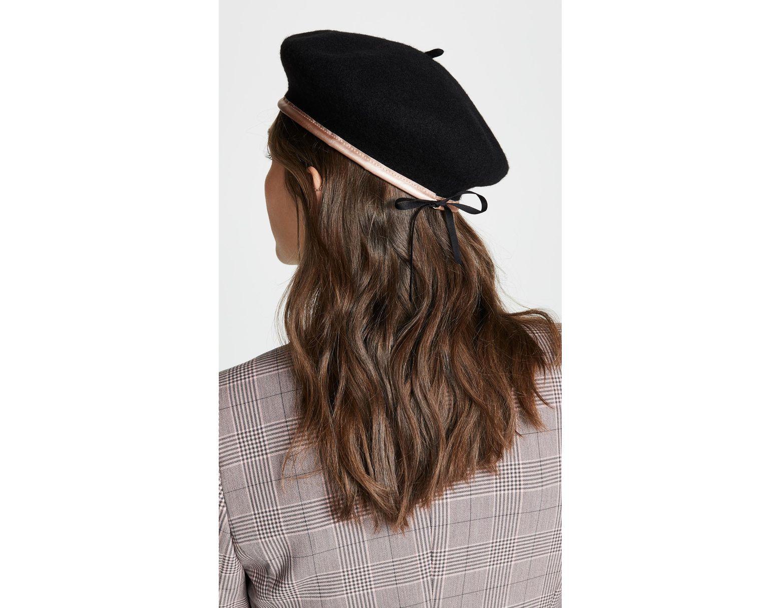 879f5503 Brixton Lennon Beret Hat - Lyst