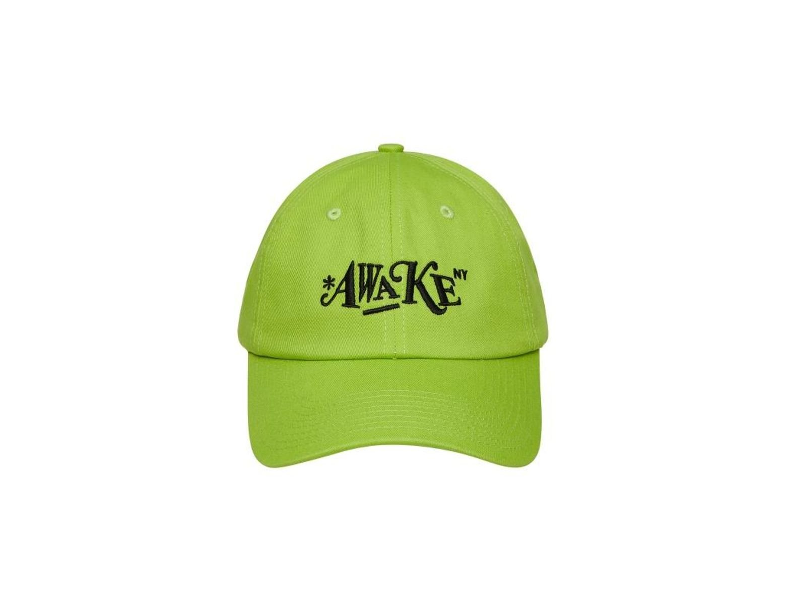 98f169ed AWAKE NY Distorted Logo Dad Cap in Green for Men - Lyst