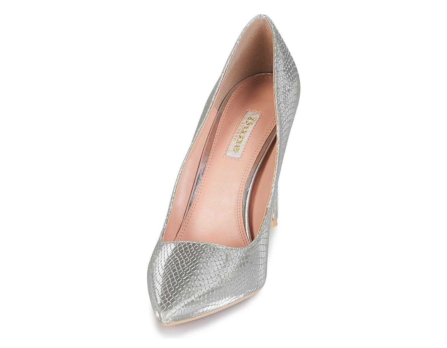 Dune Metallic Women's Shoes In Court Silver Amalfie Lyst WH2D9EI